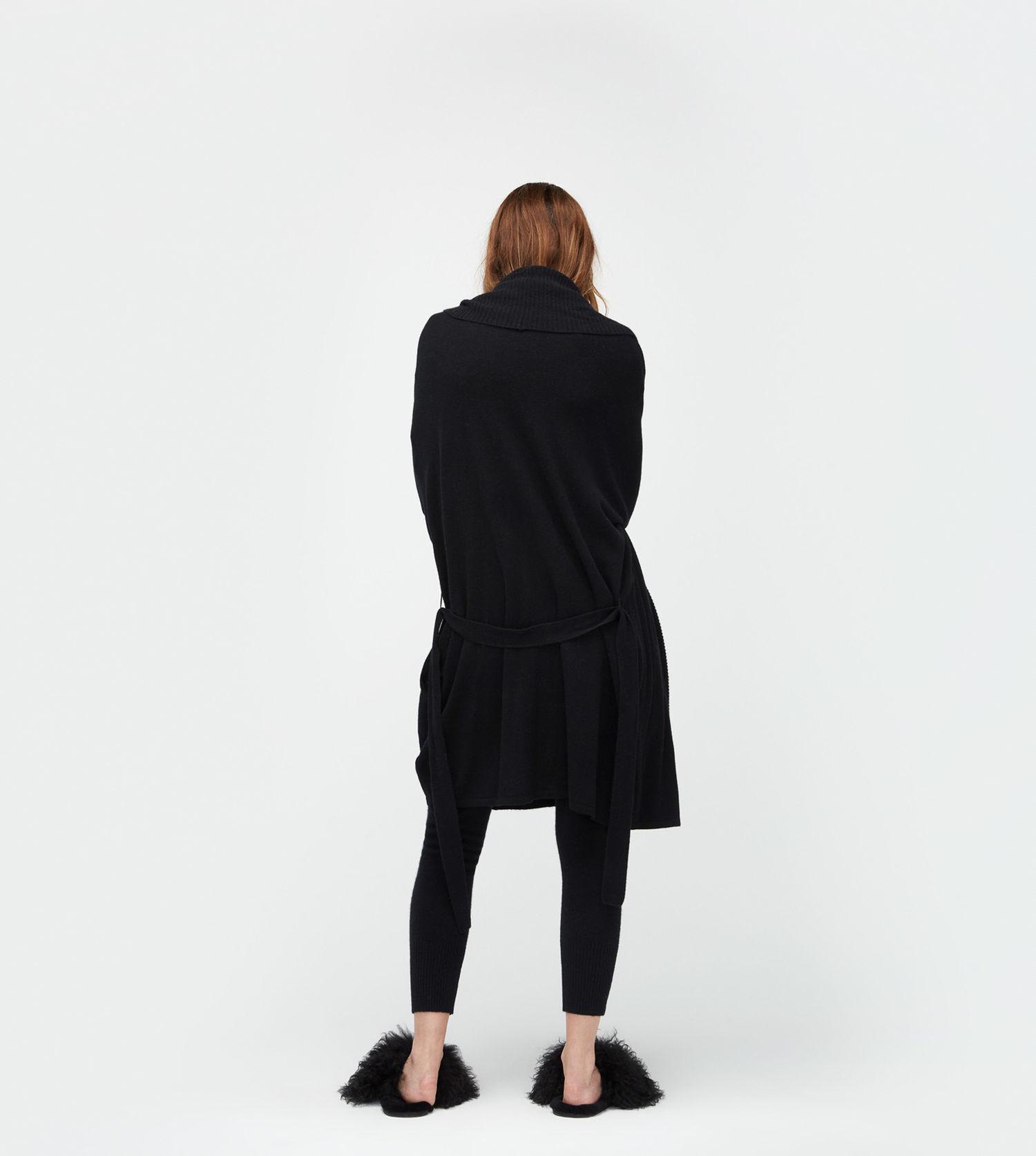 Lyst - Ugg Women s Cheyenne Robe in Black 97ffa01bf