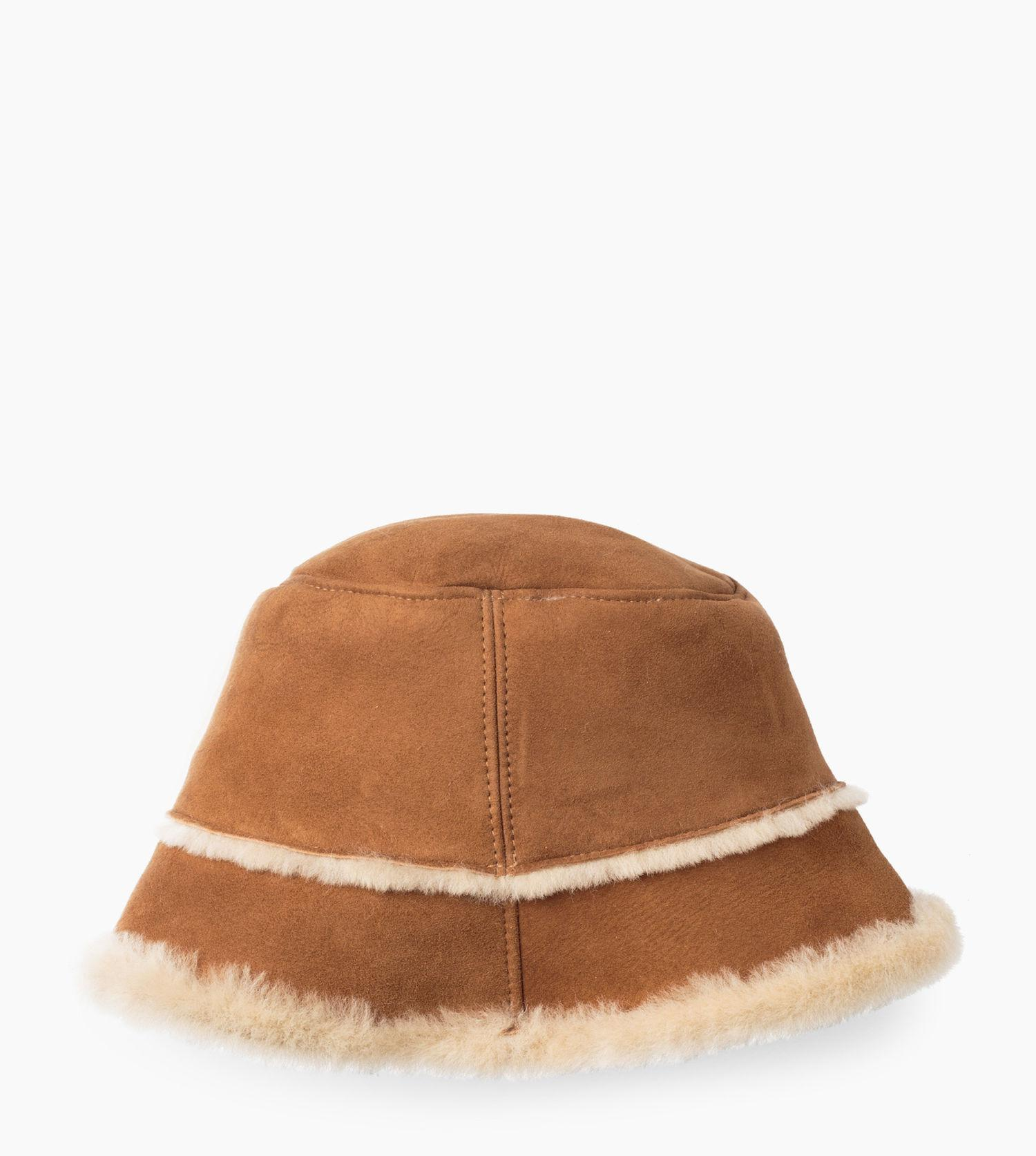 b1778ab9 UGG Women's Sheepskin Bucket Hat in Brown - Lyst