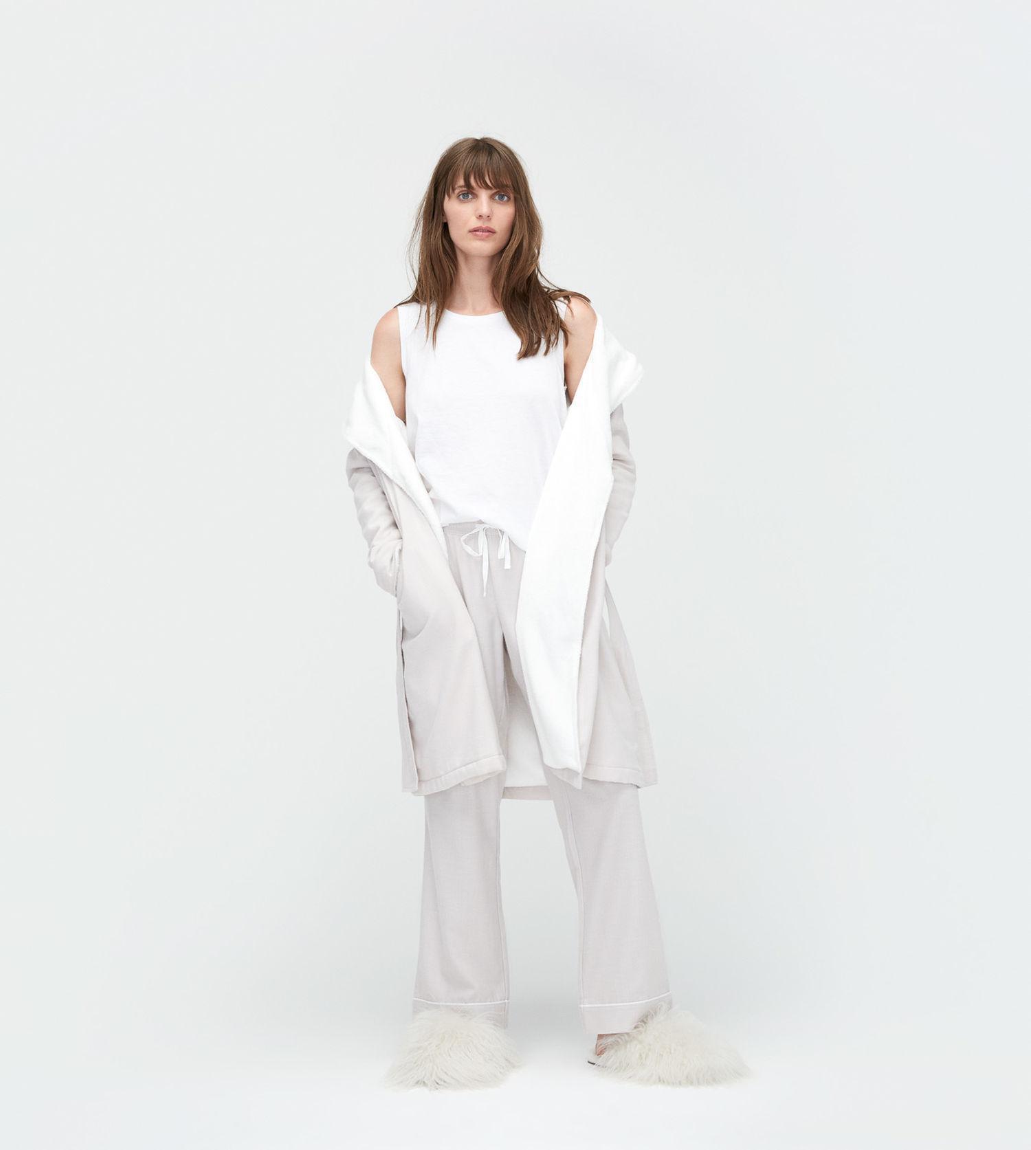 7aa8a2c924 Lyst - UGG Women s Anika Herringbone Robe in White