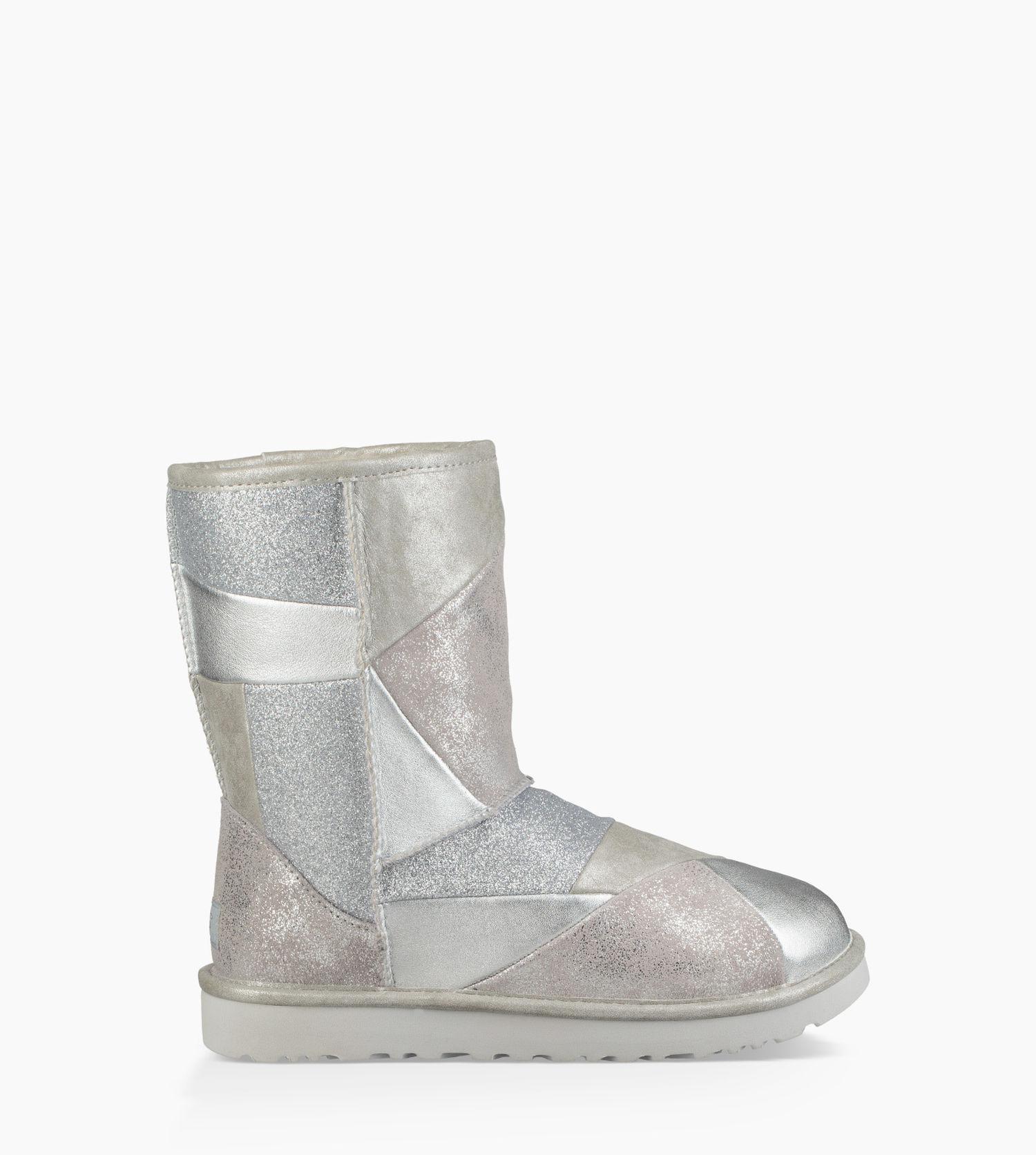 UGG. Metallic Women's Classic Glitter Patchwork Boot