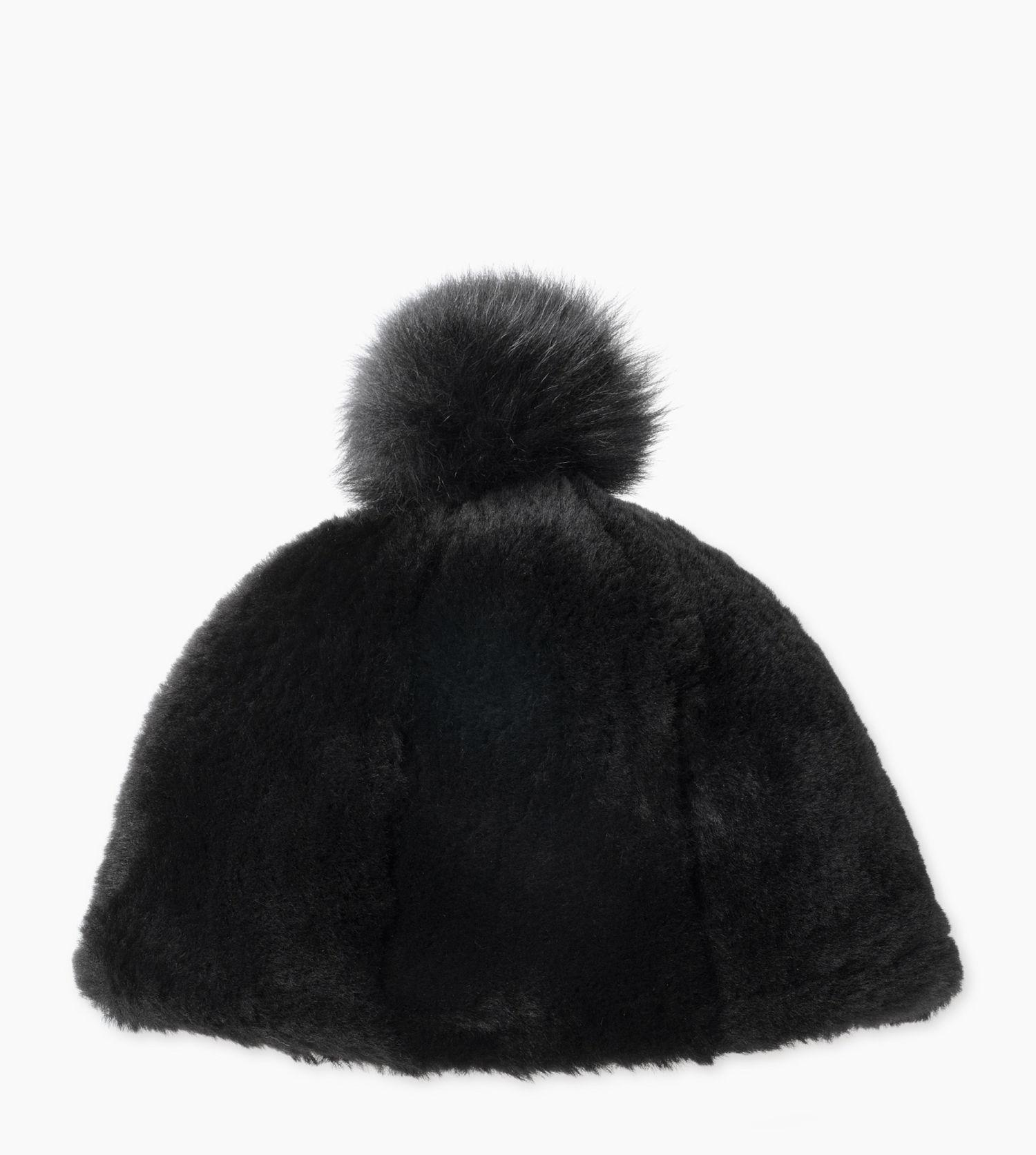 6eb67e2fd0a Lyst - UGG Women s Exposed Fur Beanie in Black
