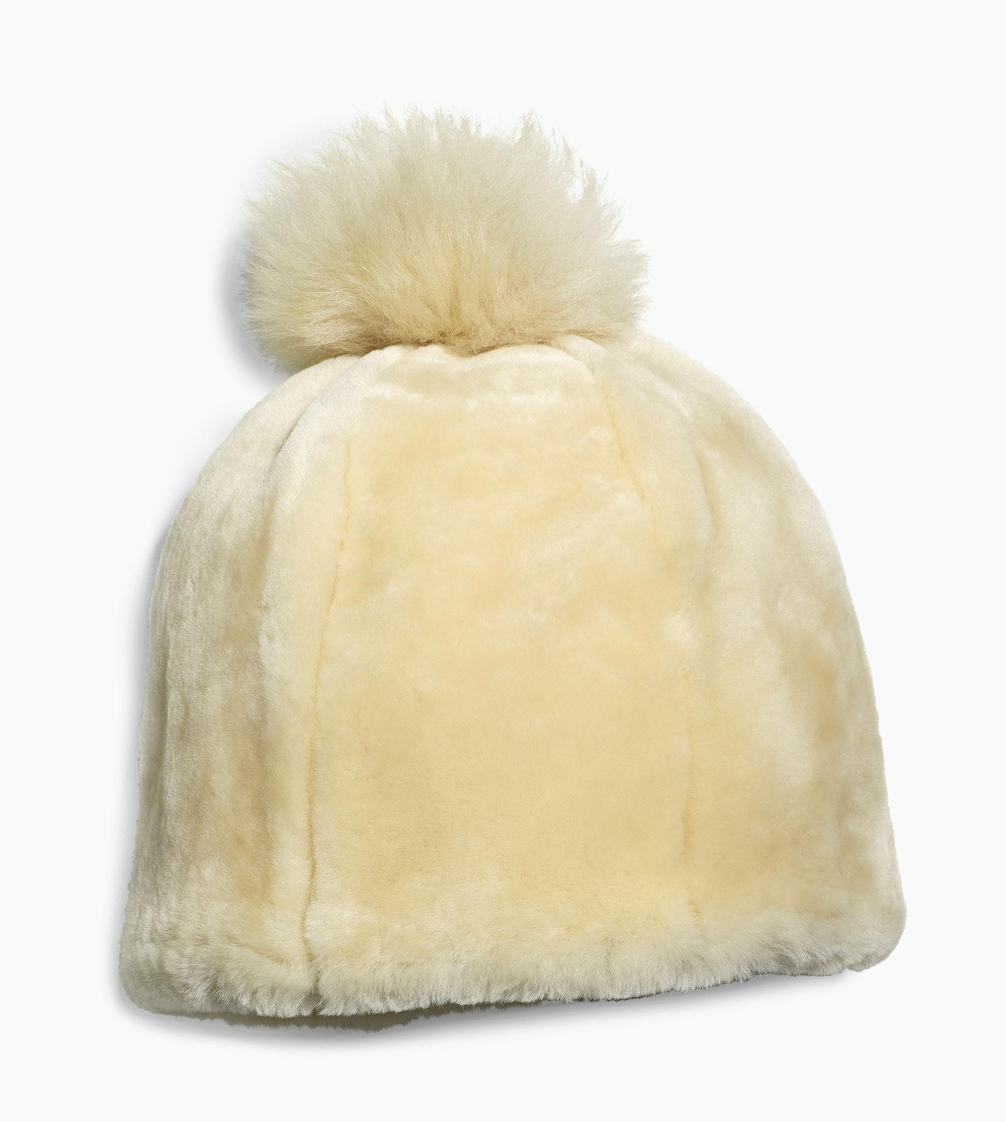 a3a4ba9f371 Lyst - UGG Solid Sheepskin Beanie Solid Sheepskin Beanie in Brown