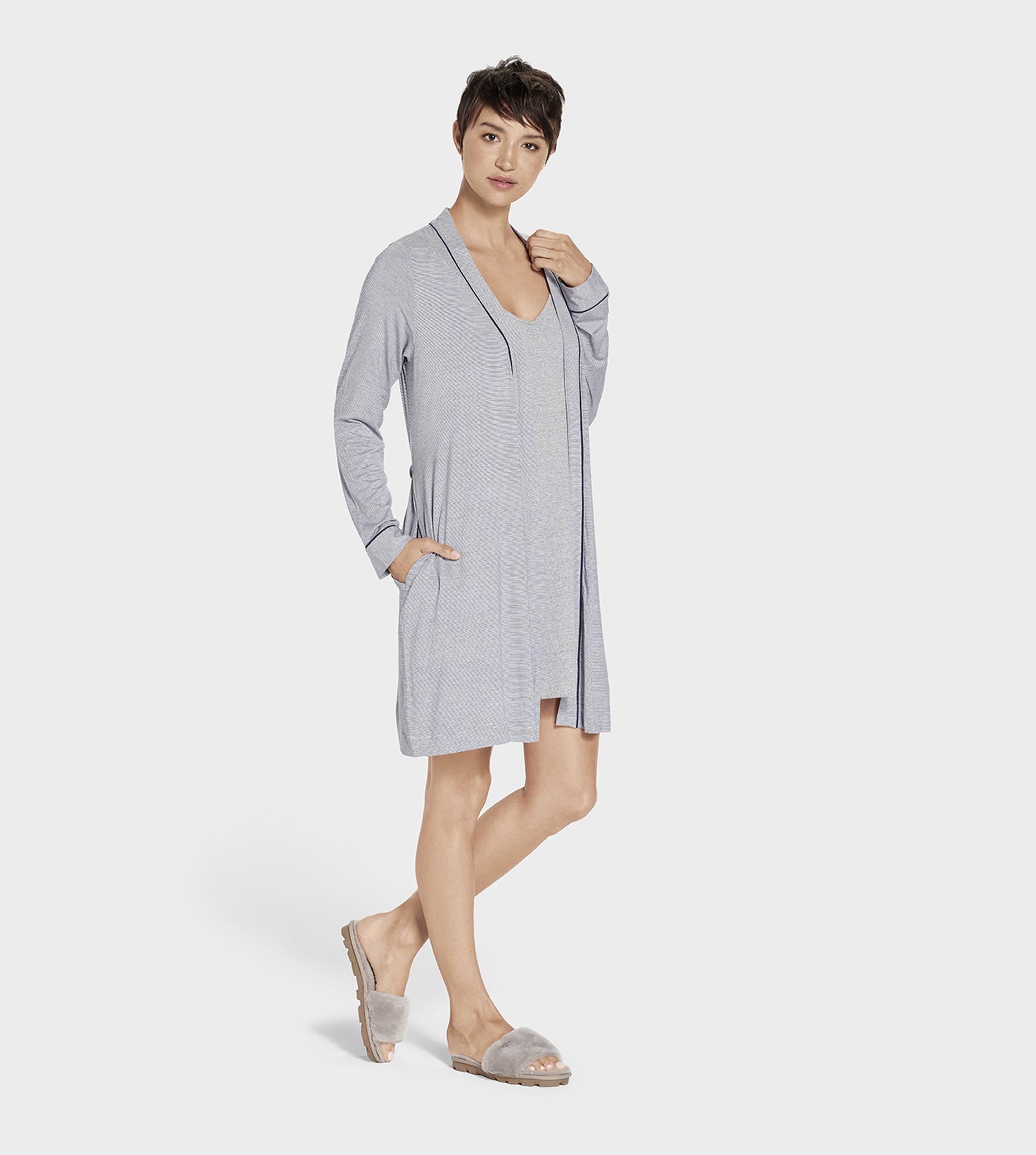 b3648055c8 Ugg - Blue Women s Aldridge Mini Stripe Dressing Gown - Lyst. View  fullscreen