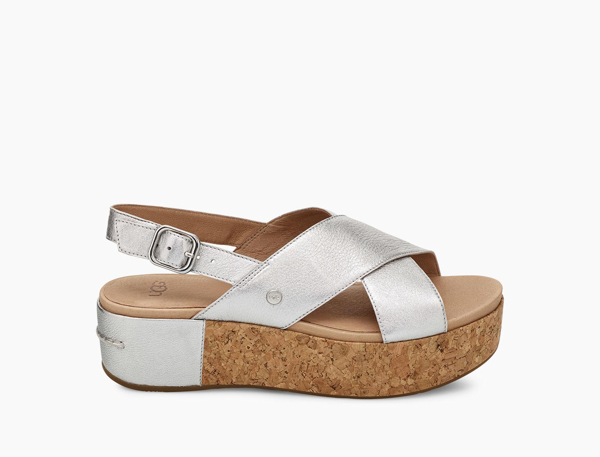 423d913242c7 Lyst - UGG Shoshana Metallic Sandal Shoshana Metallic Sandal in Metallic