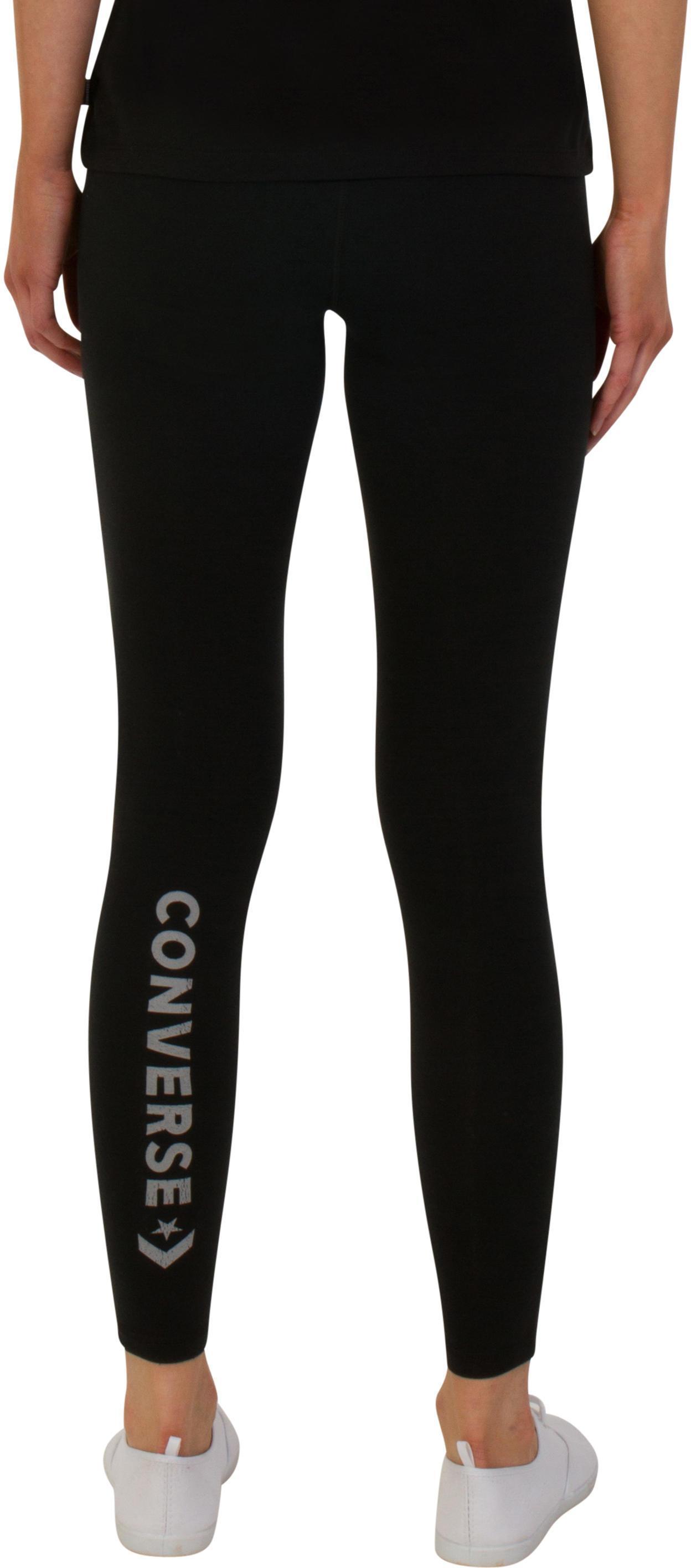 a09cf50fefc4 Converse - Black Core Reflective Wordmark Leggings - Lyst. View fullscreen