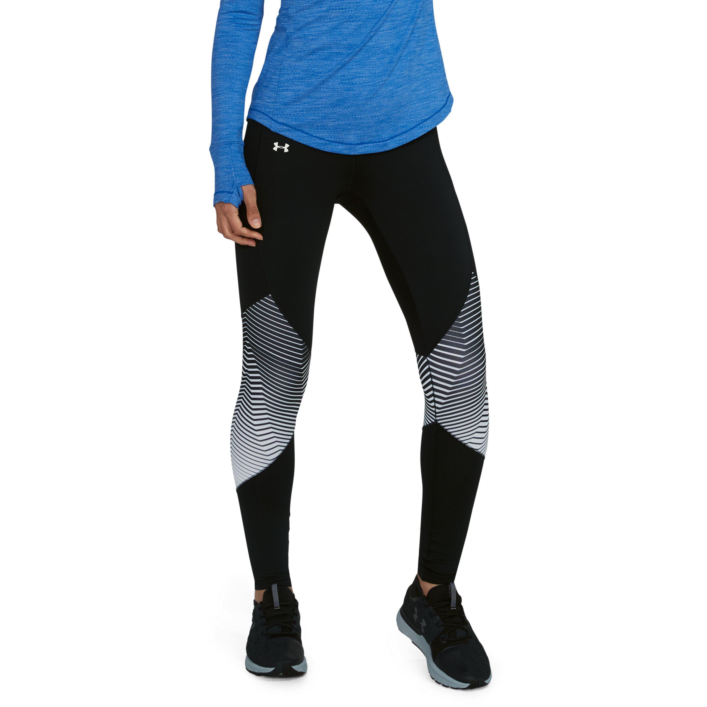 945ca1f3e02925 Under Armour Women's Coldgear® Reactor Graphic Leggings in Black - Lyst