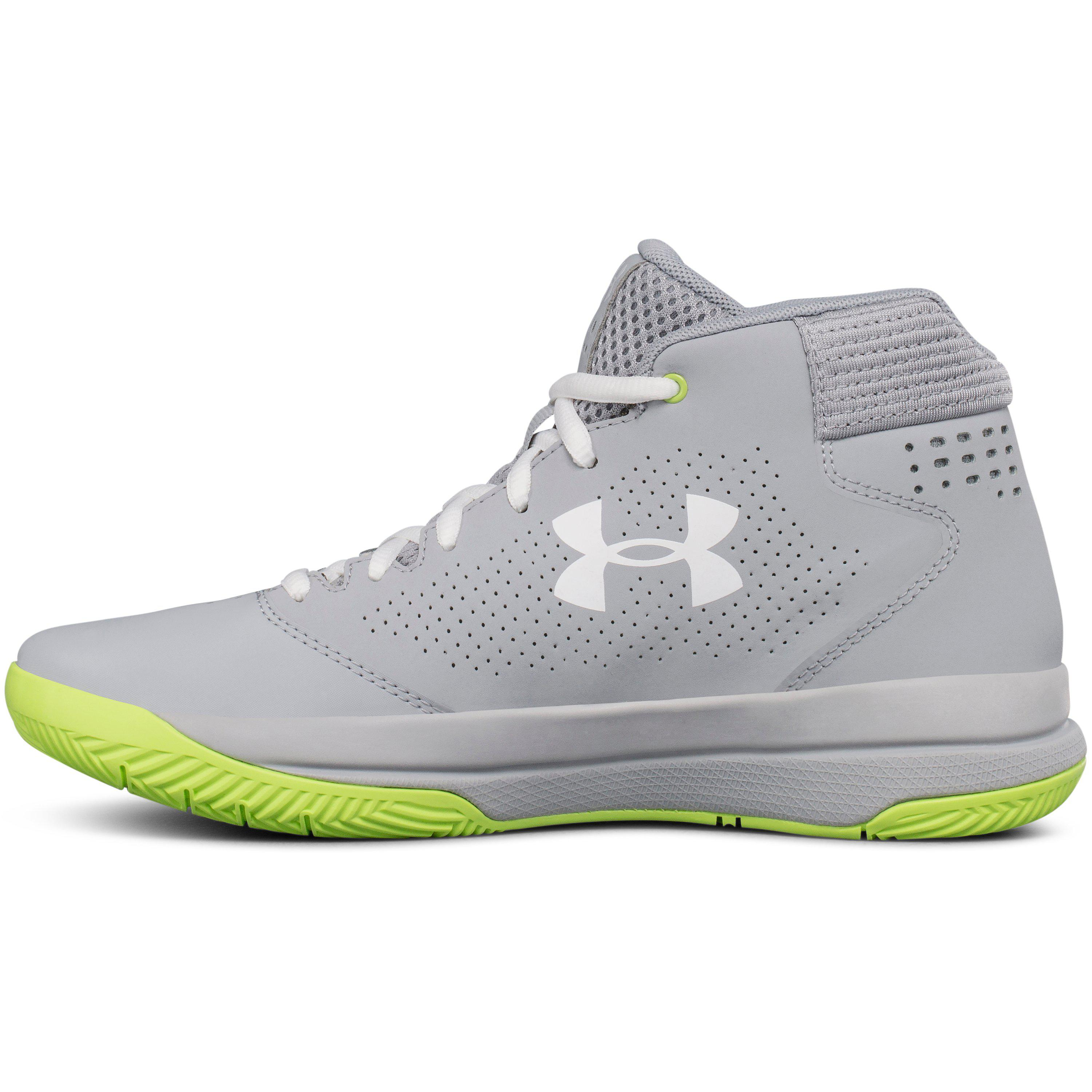 under armour womens basketball shoes neon gallery lyst under armour womens ua jet 2017 basketball shoes in gray for men