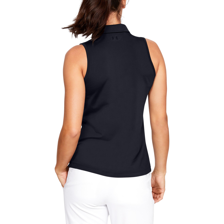 86bf5b11 Under Armour - Black Women's Ua Zinger Sleeveless Polo - Lyst. View  fullscreen