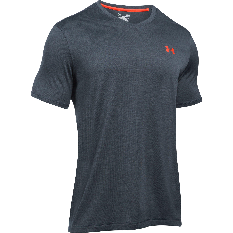Lyst under armour men 39 s ua techtm v neck t shirt for men for Under armour t shirts mens