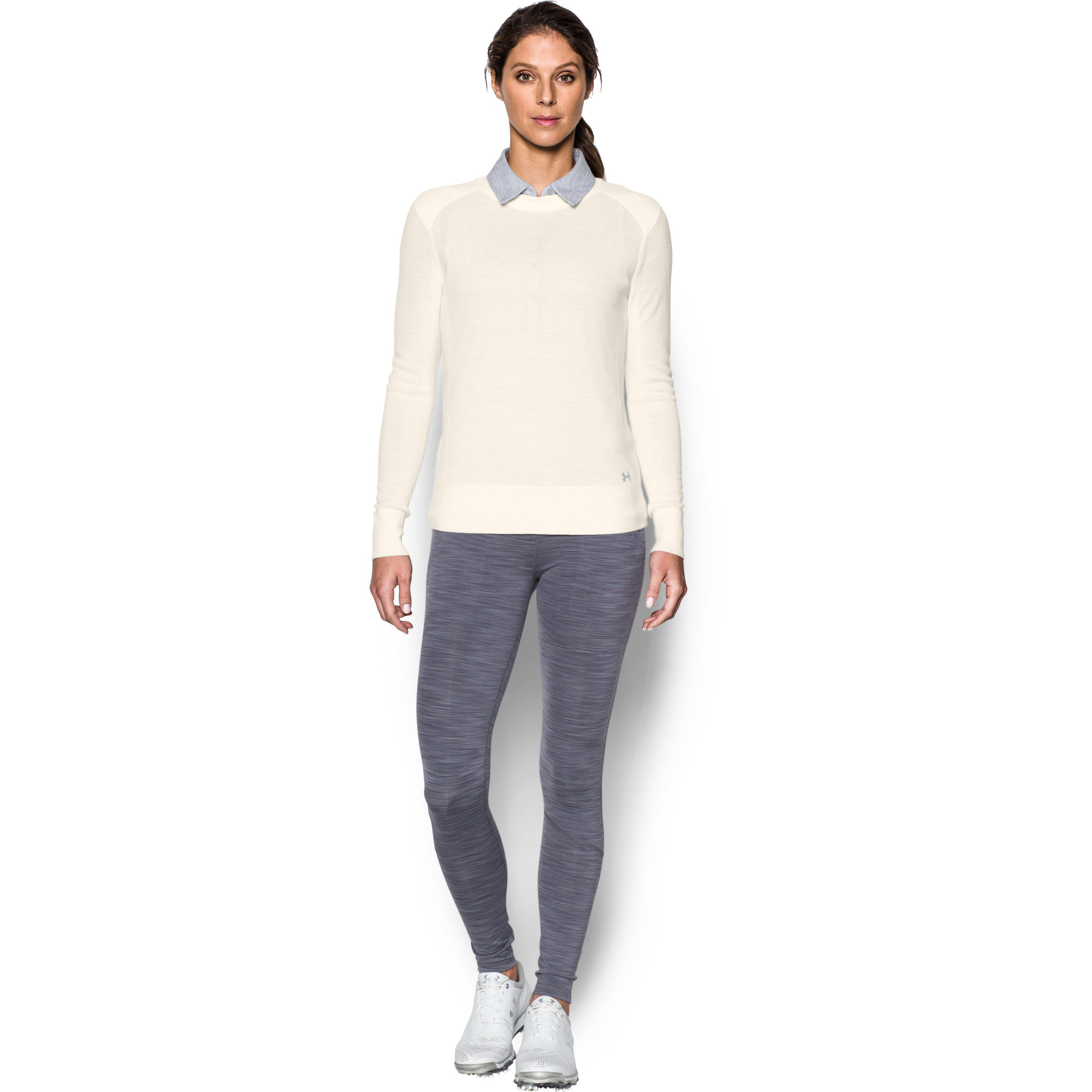 Lyst Under Armour Womens Ua Crew Sweater In White