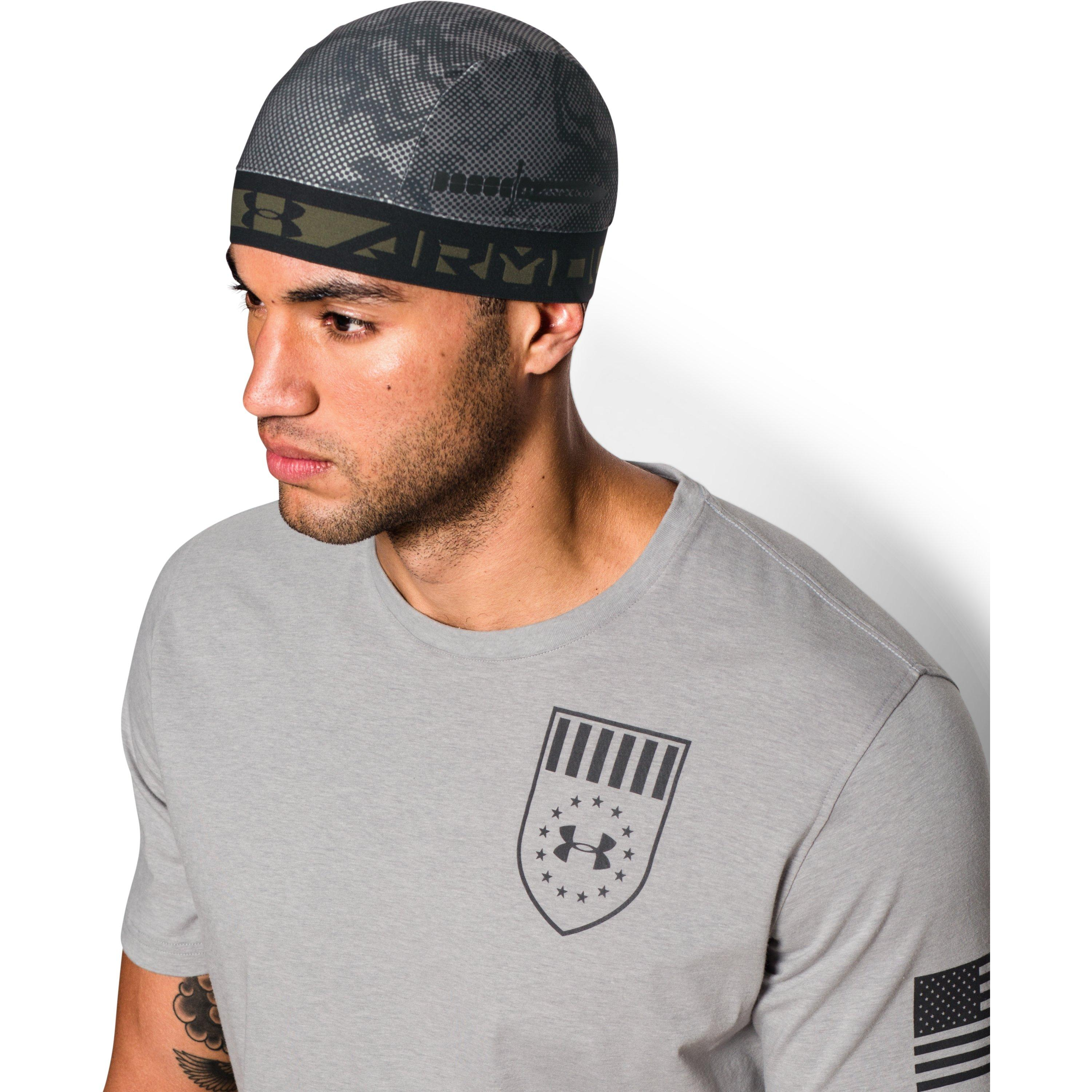 Lyst - Under Armour Men s Ua Coolswitch Camo Skull Cap in Black for Men e6a3be115d3