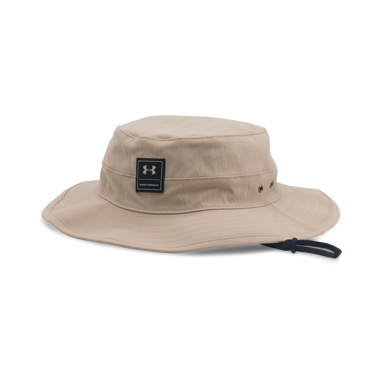 Under armour men 39 s ua training bucket hat in natural for for Under armour fish hook bucket hat