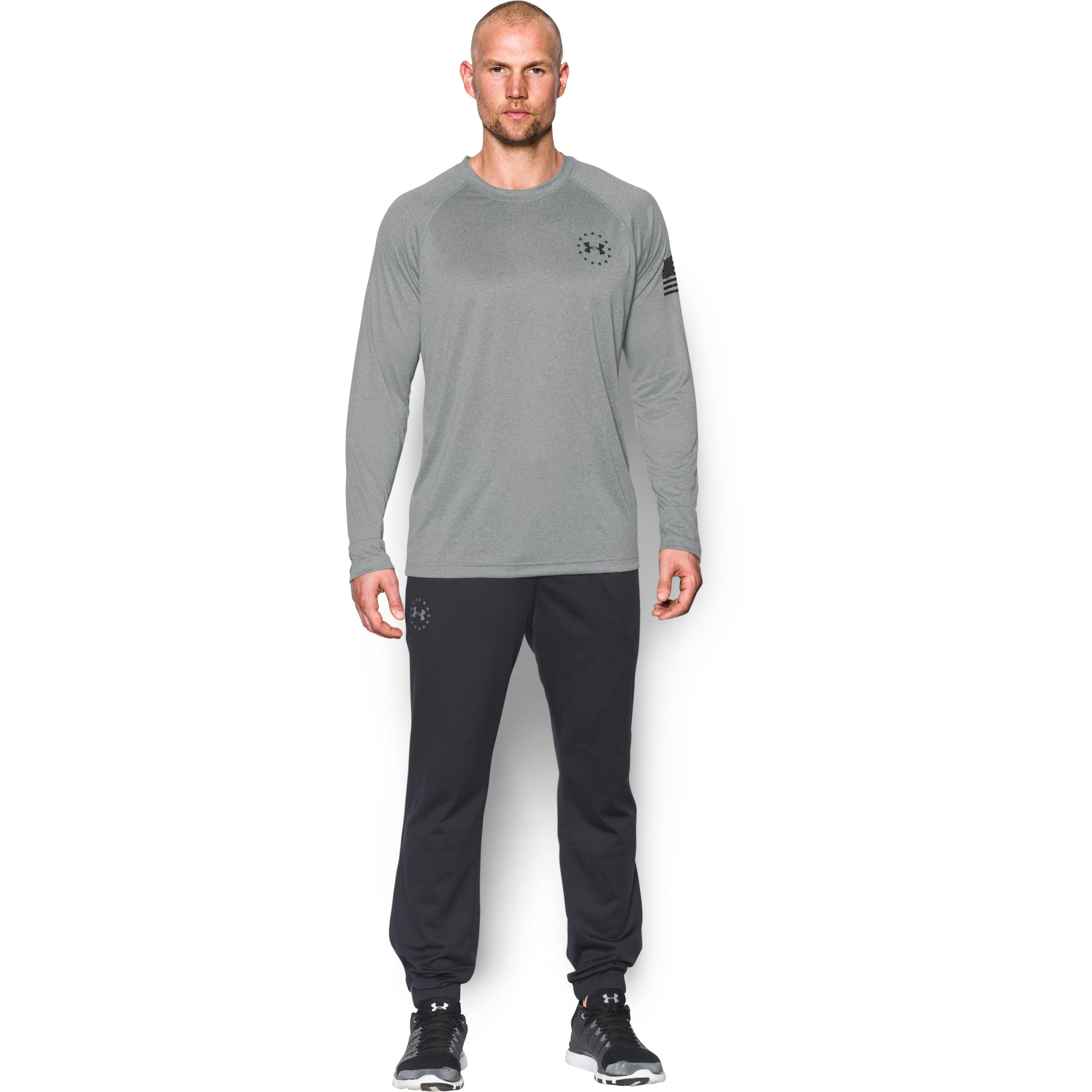 Under Armour Men 39 S Ua Freedom Tech Long Sleeve T Shirt In