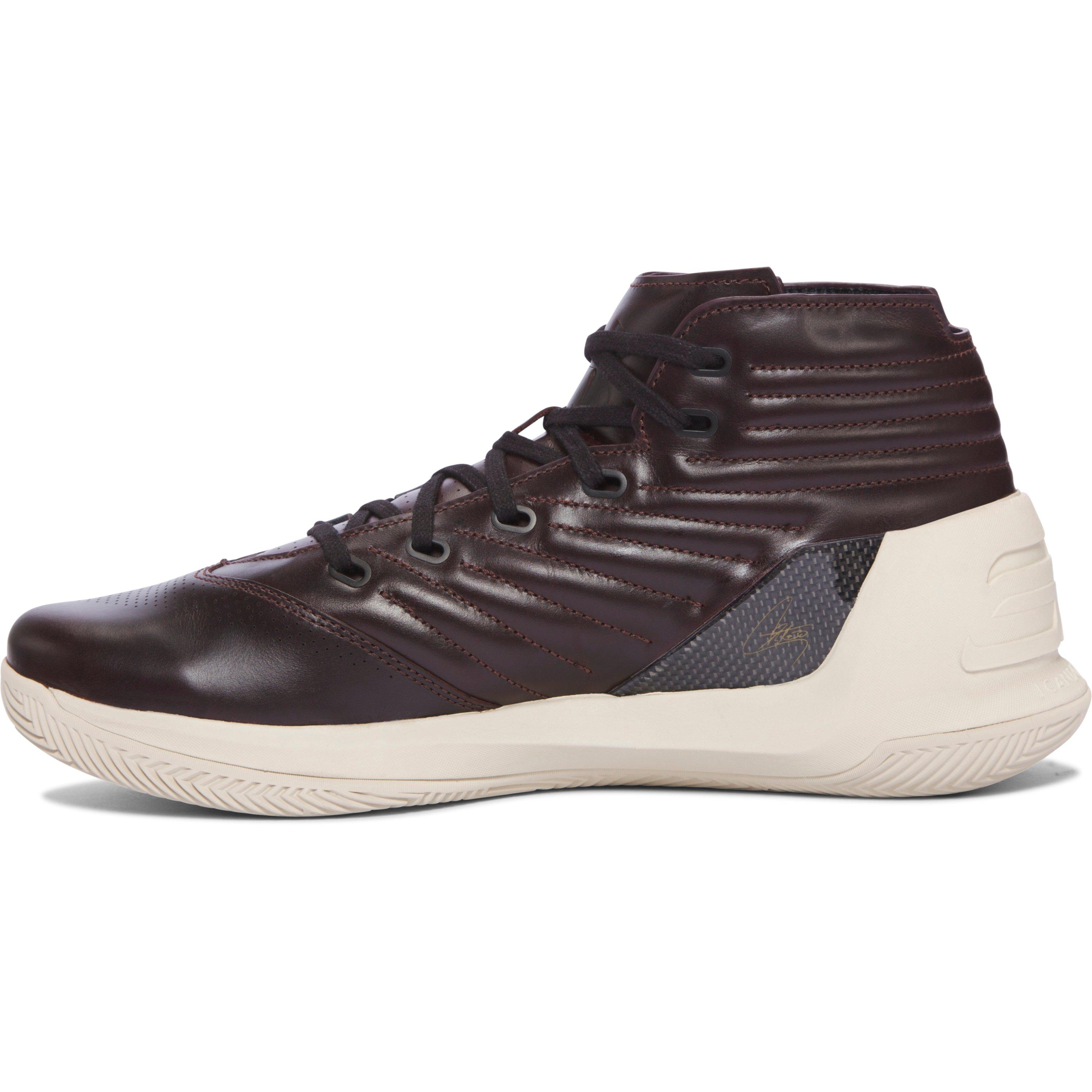 new products 56742 0cca8 Under Armour Men s Ua Curry Lux Oxblood Leather Basketball Shoes in ...