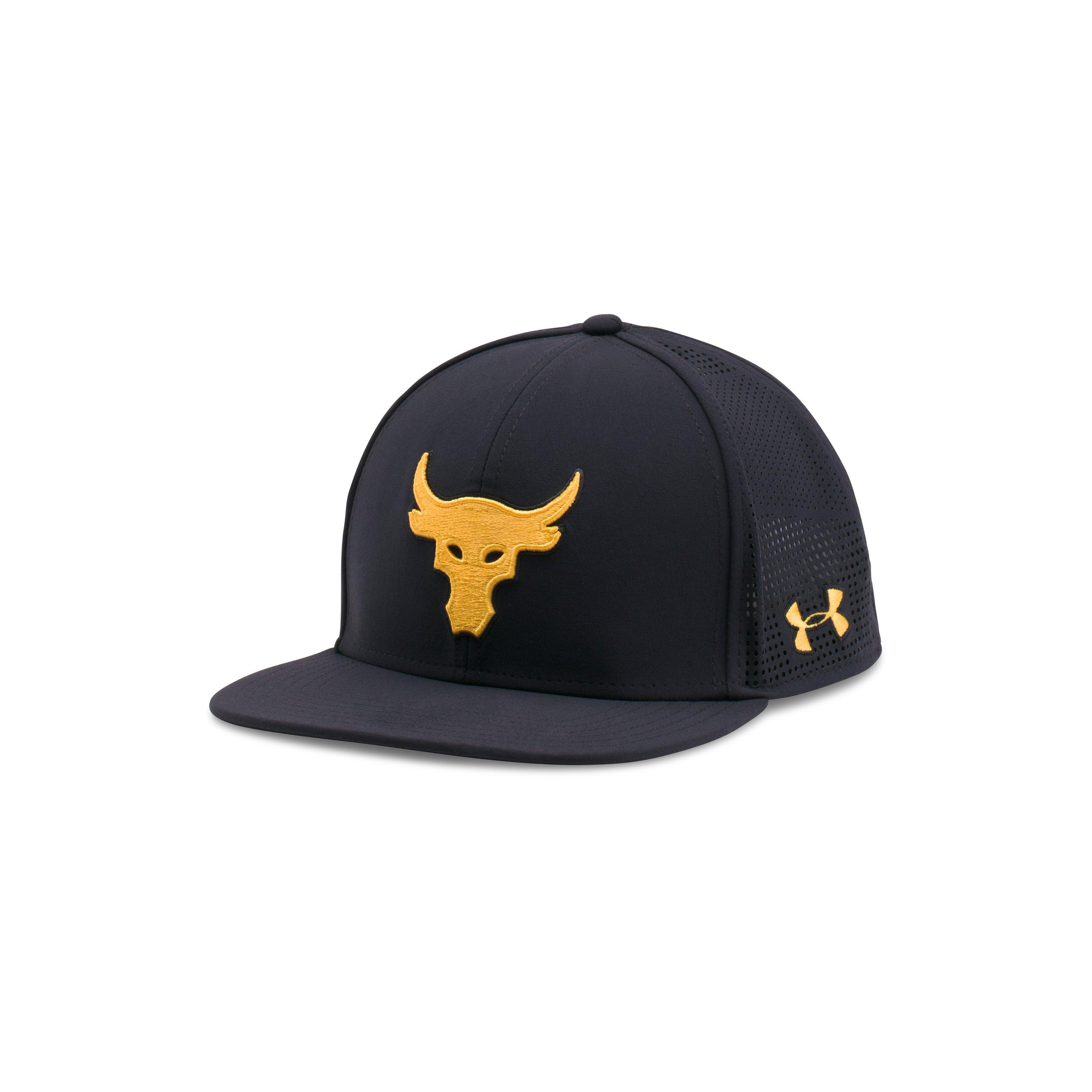 quality design 2f364 9c33d Under Armour Ua X Project Rock Supervent Snapback Cap in Black for ...