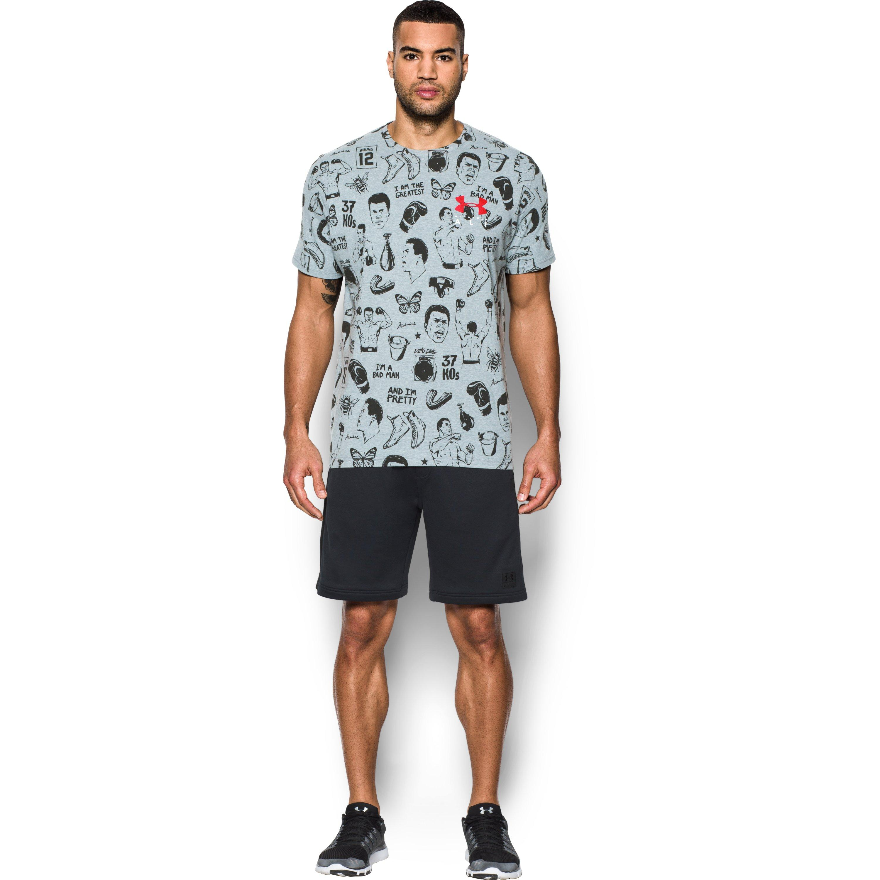 Lyst - Under Armour Men s Ua X Ali Aop T-shirt in Gray for Men 29ab196a3baa7