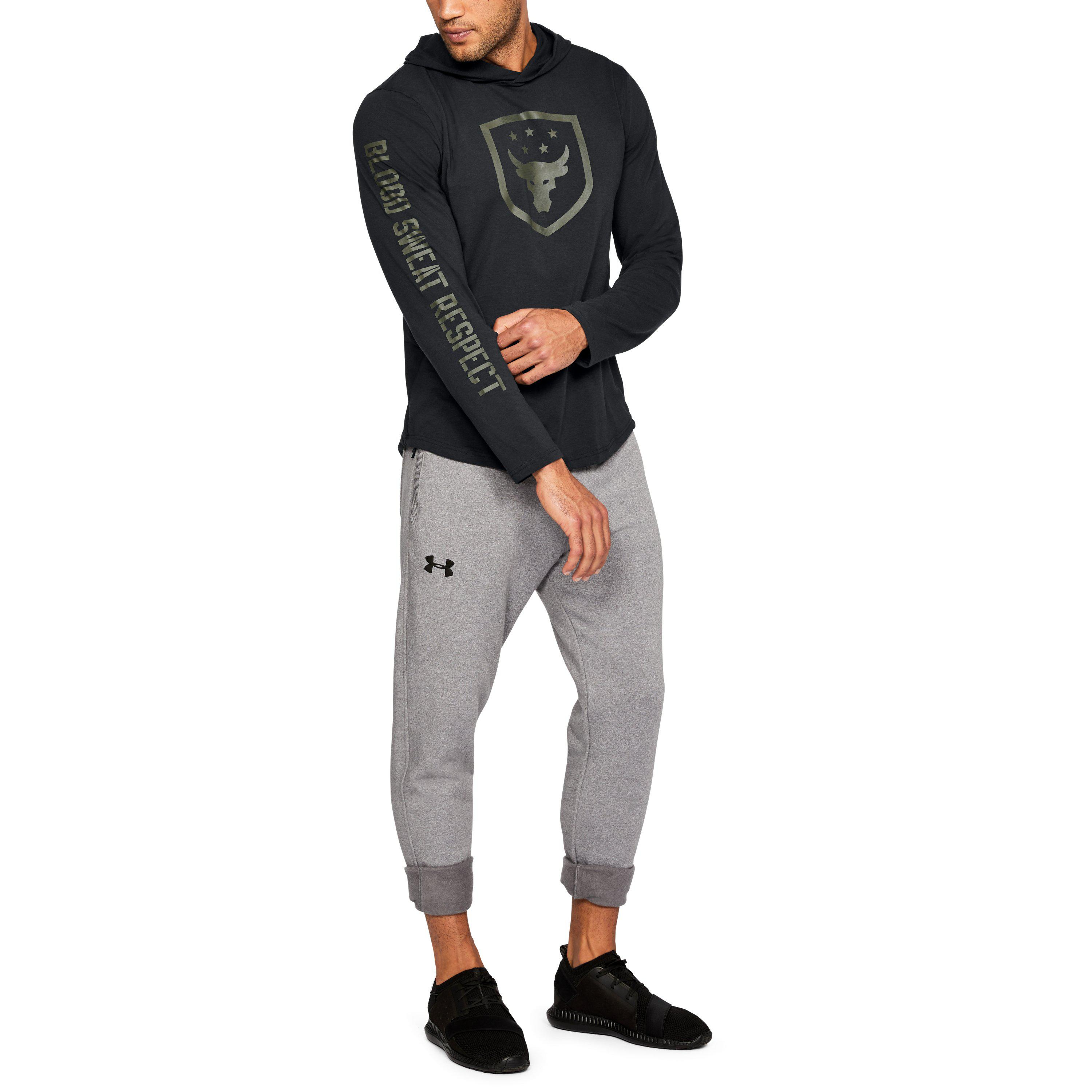 9e306420d36e1 Lyst - Under Armour Men s Ua X Project Rock Troops Hoodie in Black ...