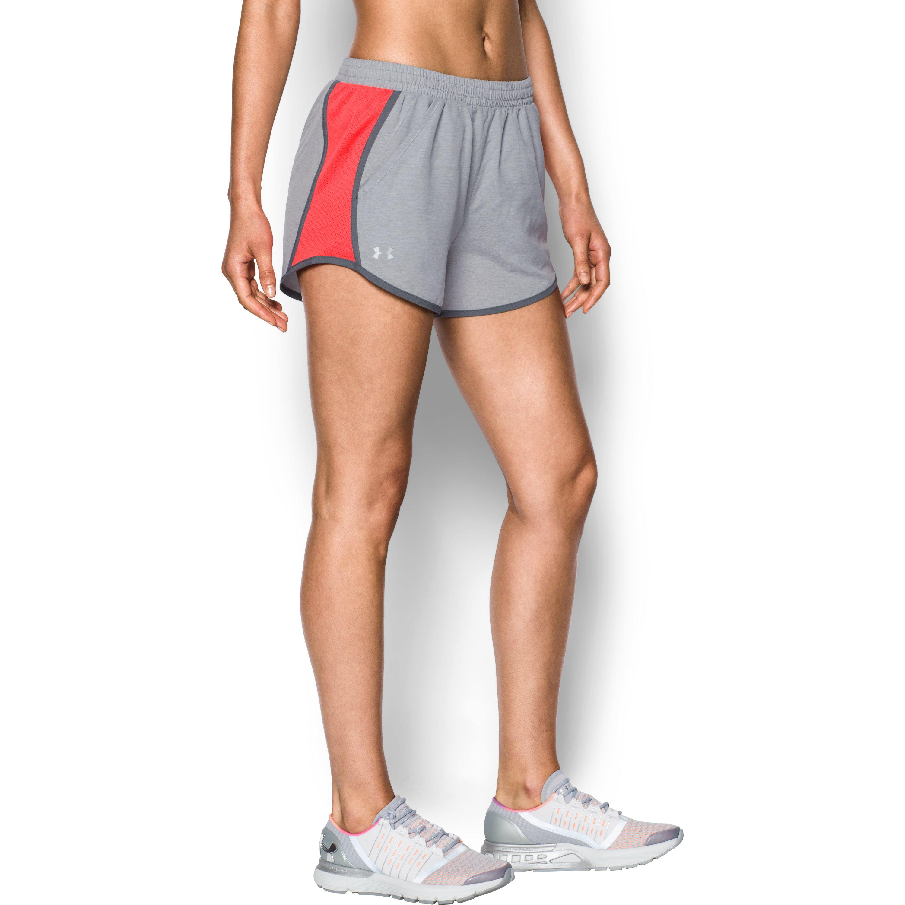 71d57d005194 Lyst - Under Armour Women s Ua Fly-by Shorts in Gray