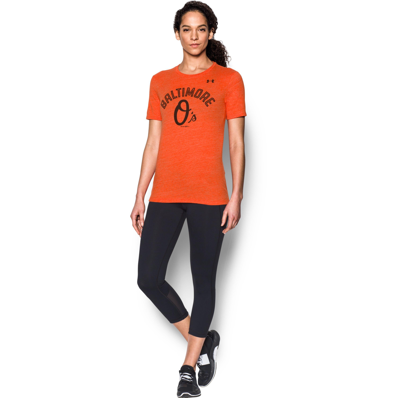 Lyst - Under Armour Women s Baltimore Orioles Ua Tri-blend in Orange 6e56abfdc