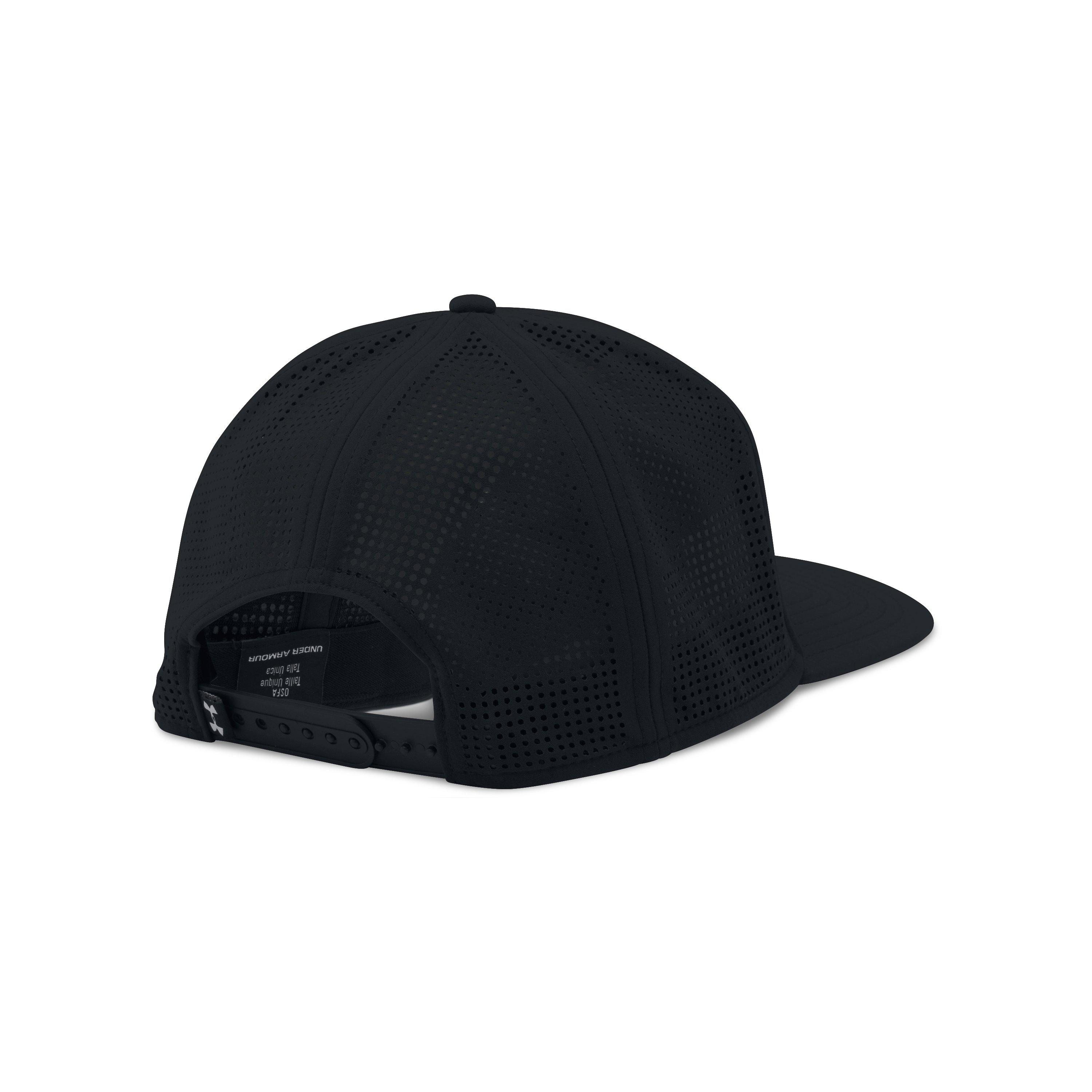 Lyst - Under Armour Supervent Flat Brim Snapback Hat in Black for Men 747a53f015a
