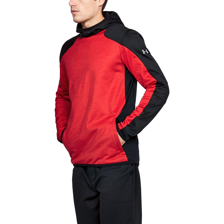 10f94b0e2 Under Armour Men's Coldgear® Reactor Fleece Hoodie in Red for Men - Lyst