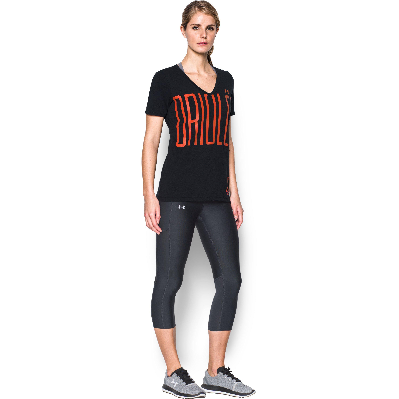 Lyst - Under Armour Women s Baltimore Orioles Offshore V-neck in Black 747516790