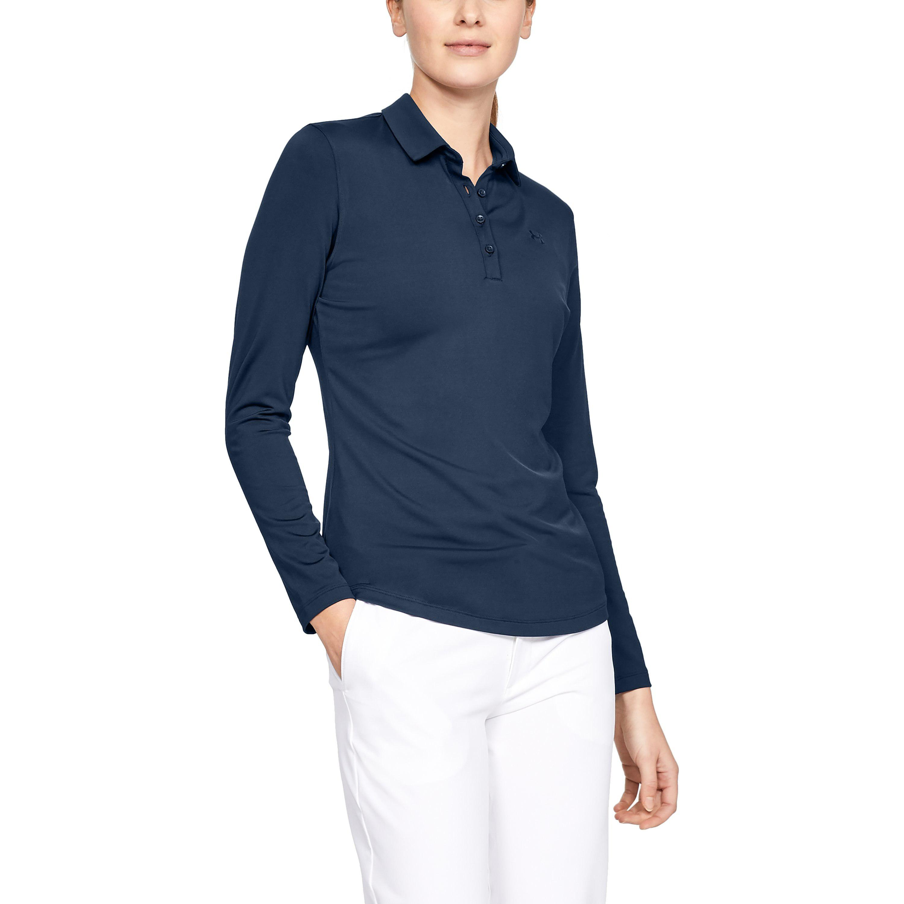 Lyst Under Armour Womens Ua Zinger Long Sleeve Polo In Blue