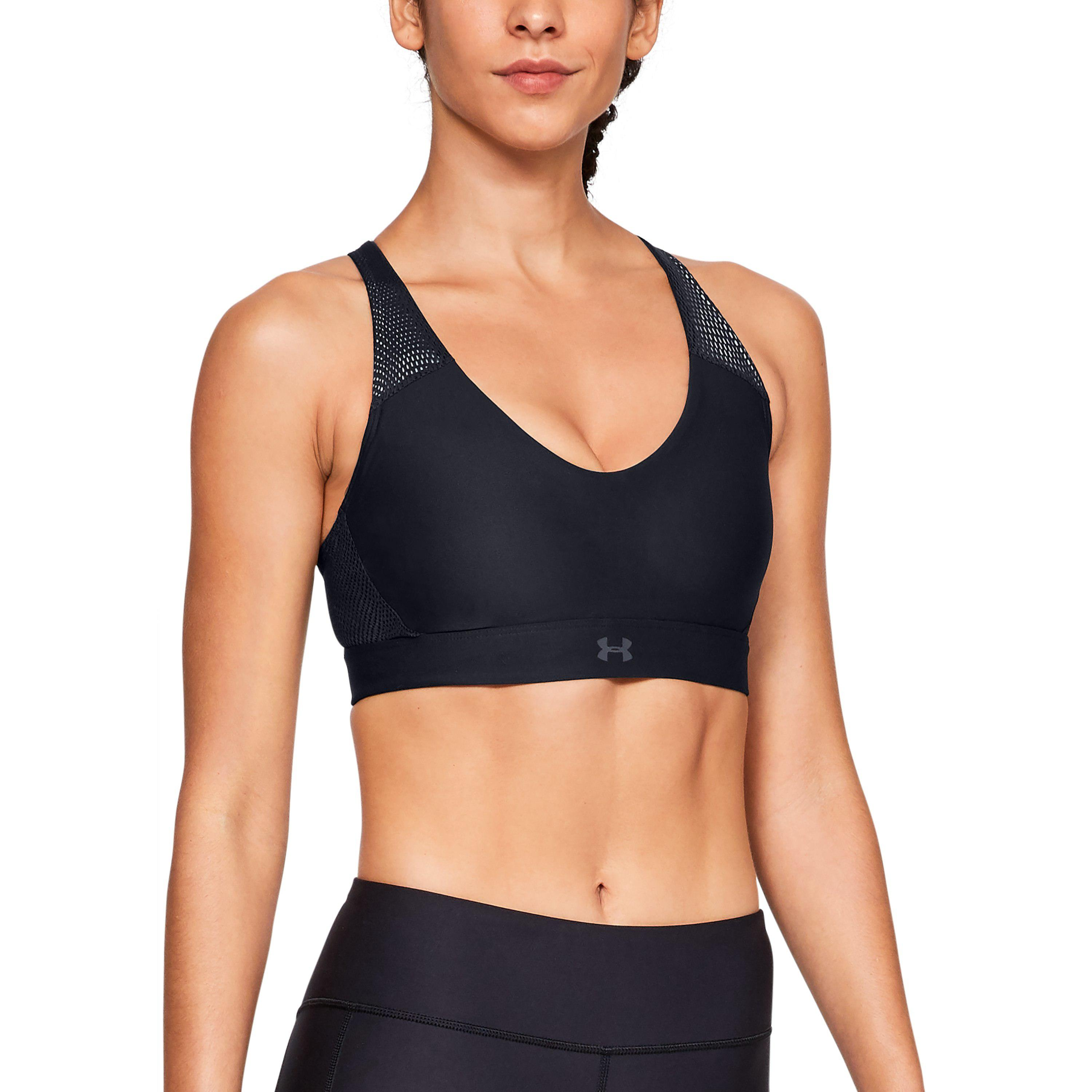 2d7f4f6603 Lyst - Under Armour Women s Ua Vanish Mid Mesh Sports Bra in Black