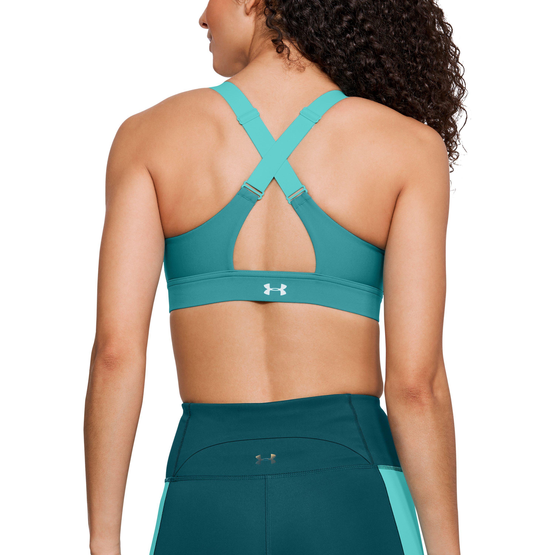 868313c18e Lyst - Under Armour Women s Ua Vanish High Zip Sports Bra in Blue