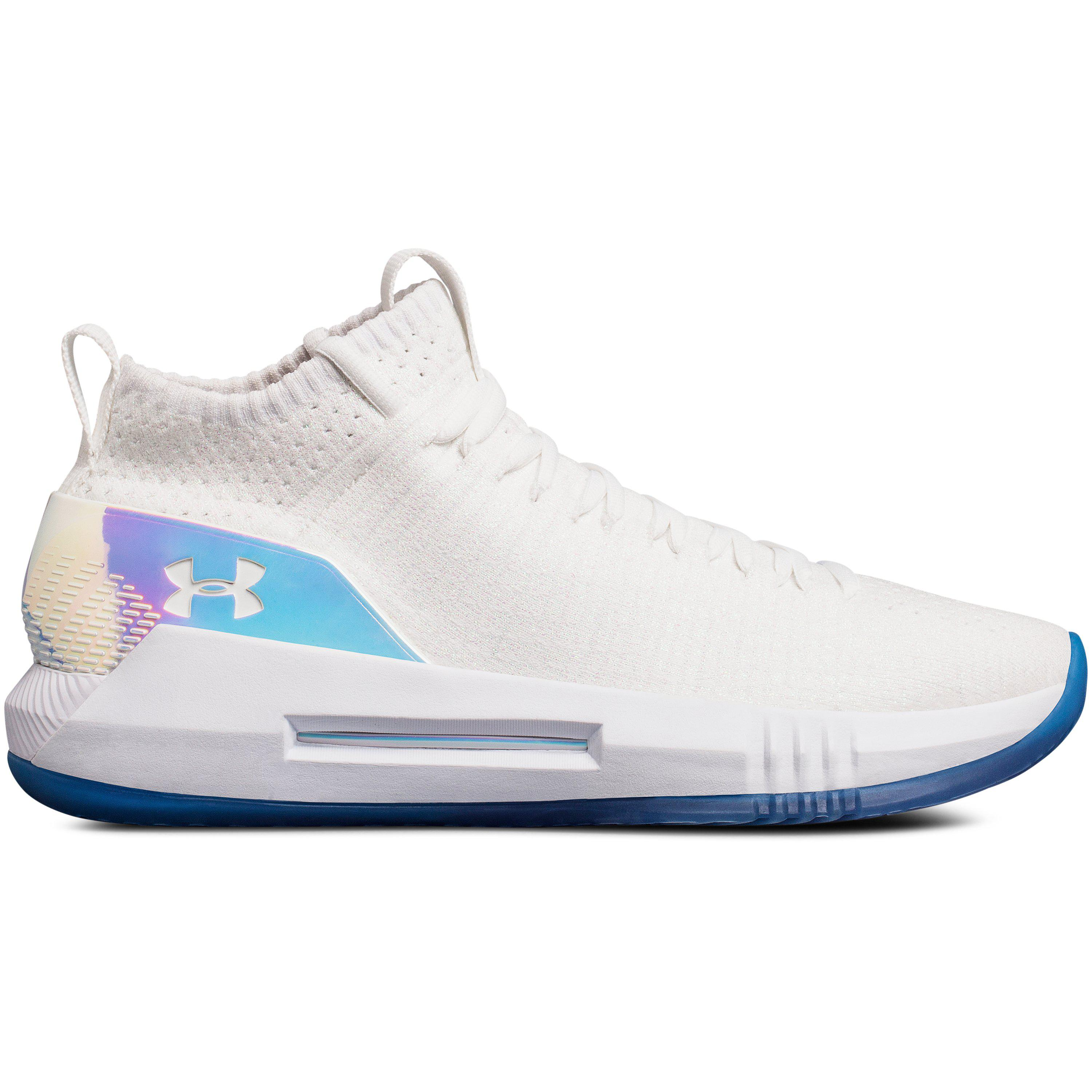 254145335d81 Under Armour Men s Ua Team Heat Seeker Basketball Shoes in White for ...