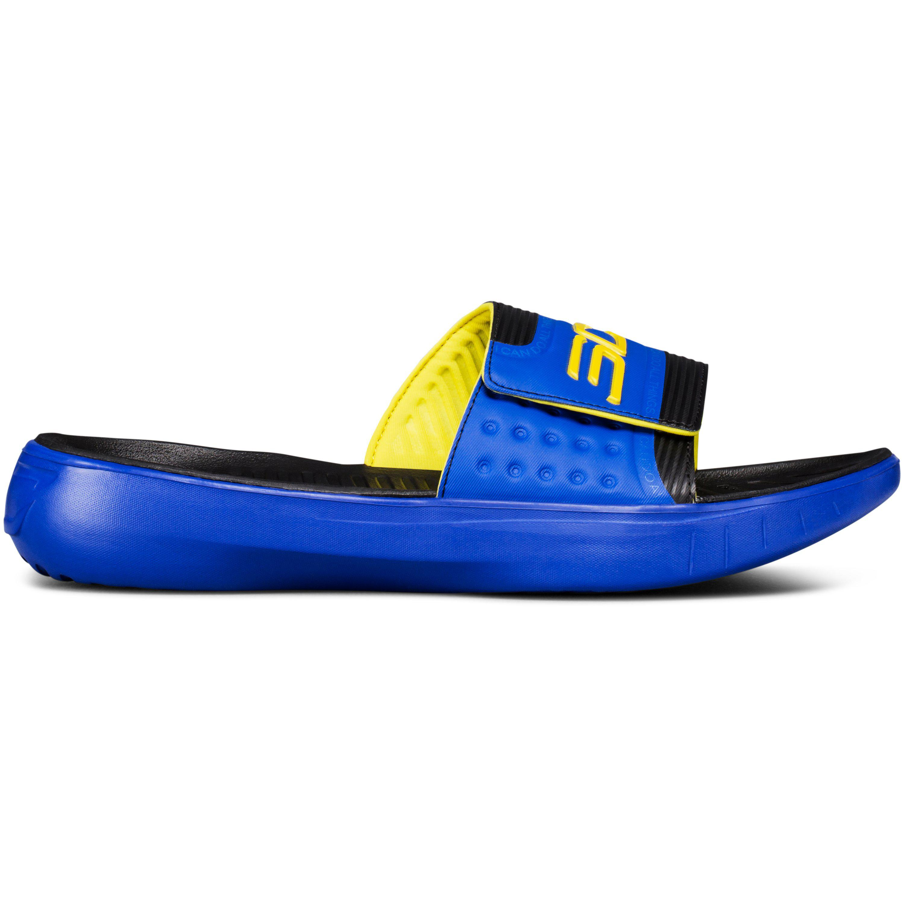 14e526c732933 Lyst - Under Armour Curry 4 Slides in Blue for Men
