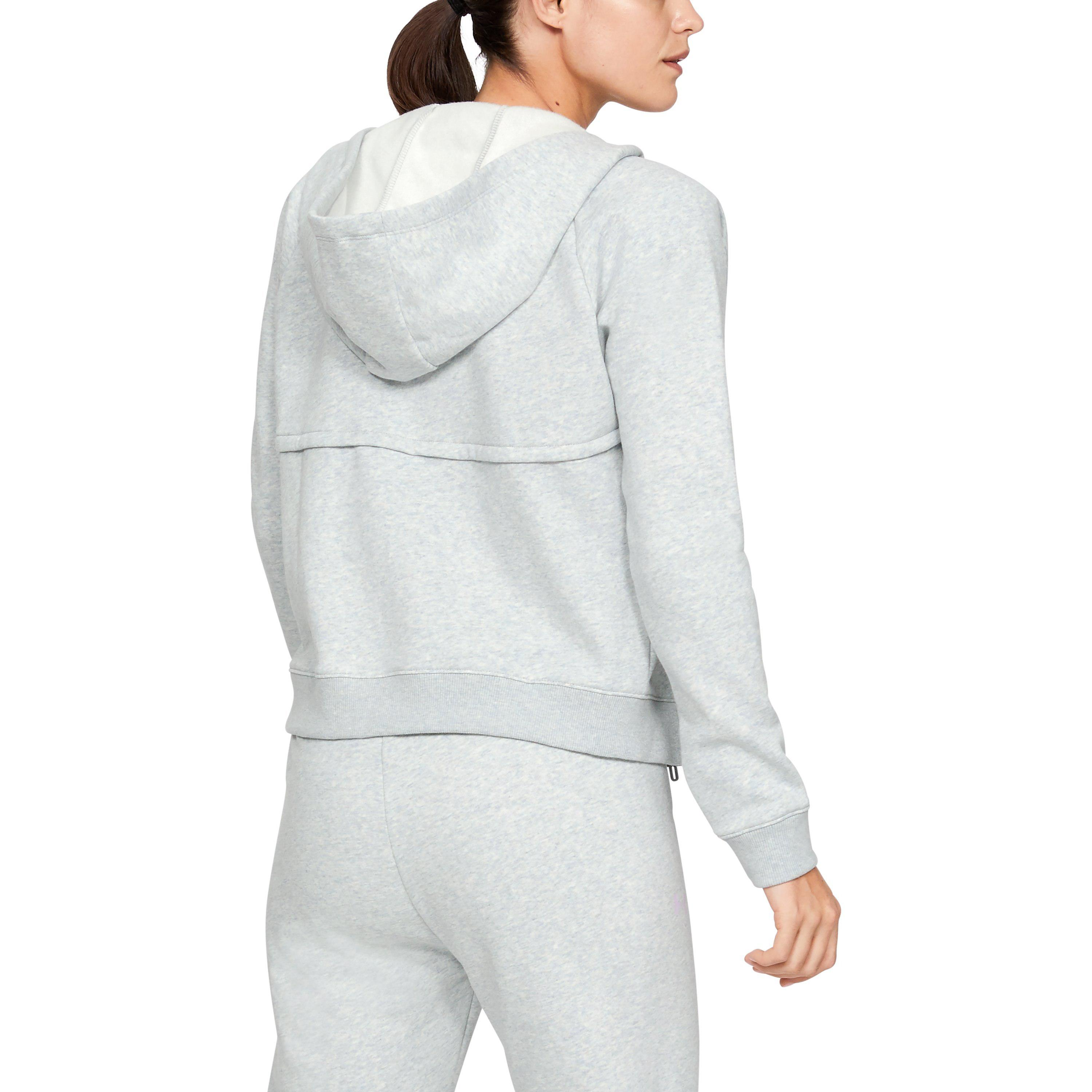 2ec5d88cf4 Lyst - Under Armour Women's Ua Rival Fleece Crop in Gray