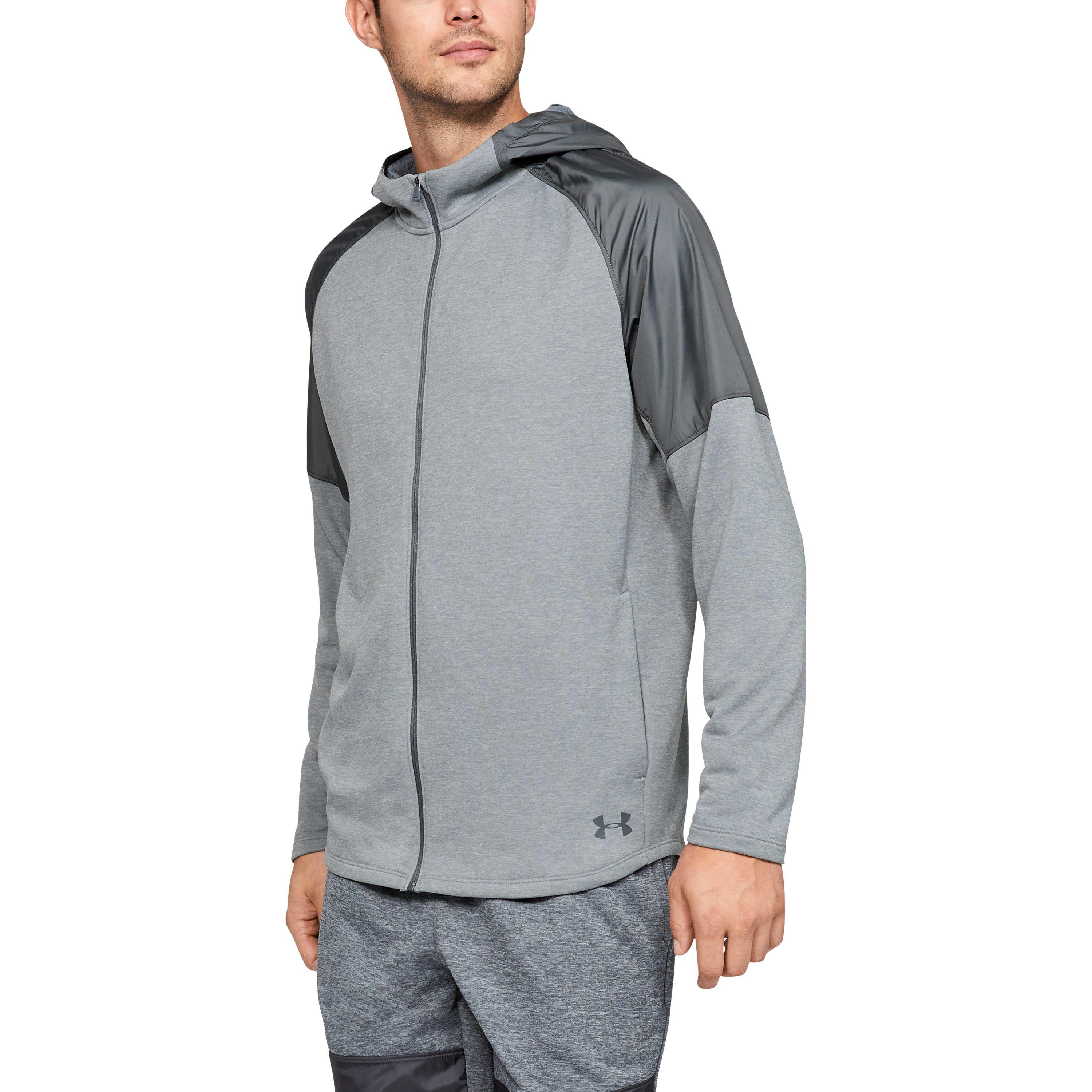 461f7a77caeabf Lyst - Under Armour Men s Ua Mk-1 Terry Full Zip Hoodie in Gray for Men