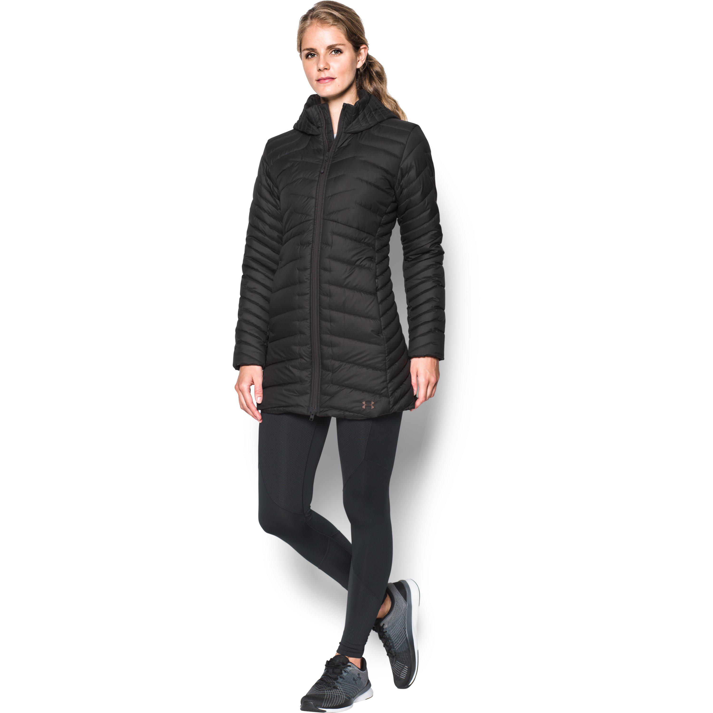 Lyst - Under Armour Women s Coldgear® Reactor Parka in Black 39b05bb11