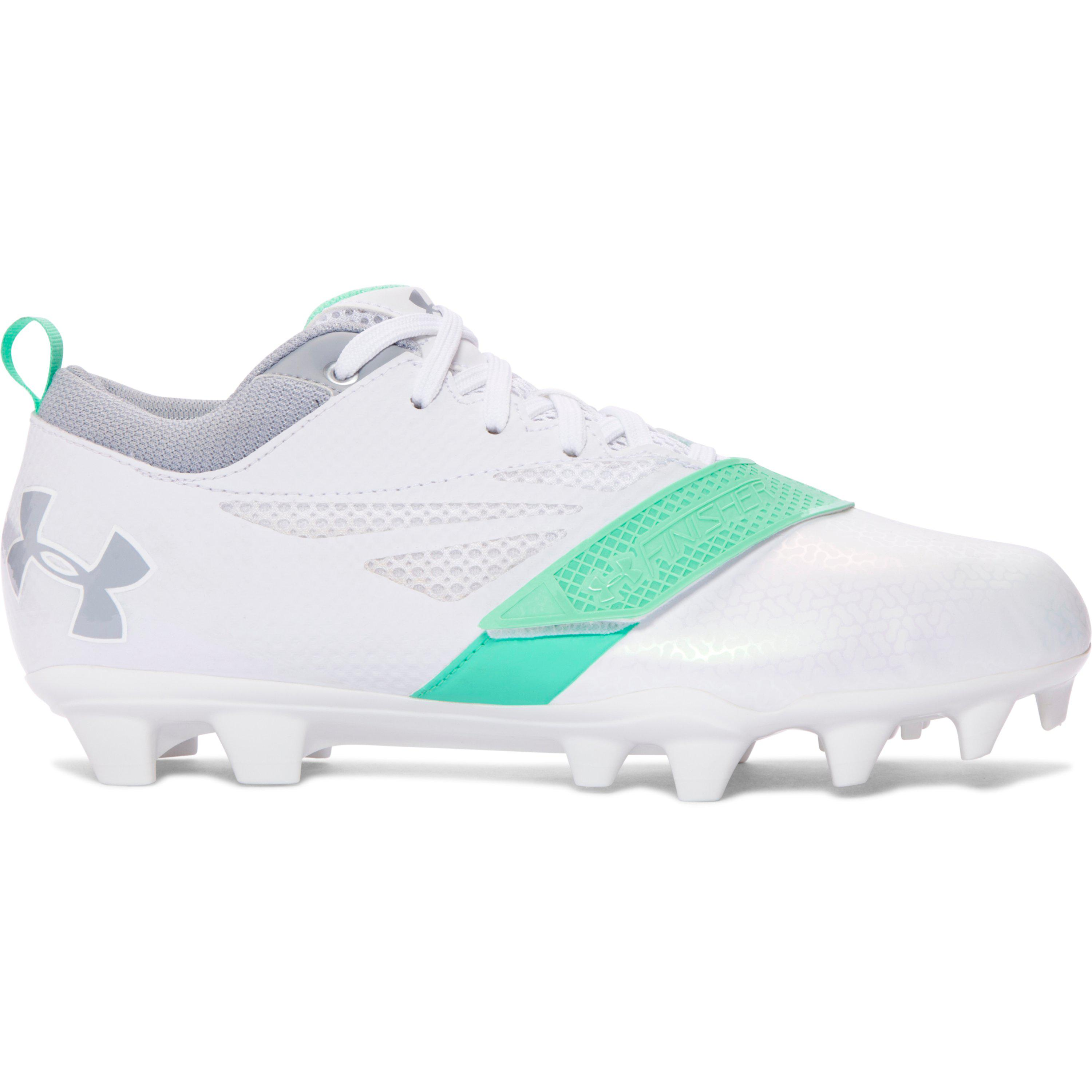 296fd0863dc85 Under Armour Lax Finisher Mc Lacrosse Shoe, White/black in White - Lyst