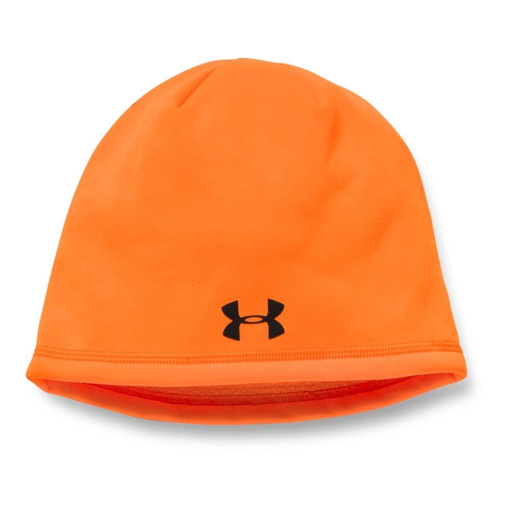34aa82219f0 Lyst - Under Armour Camo Outdoor Fleece Beanie in Orange for Men ...