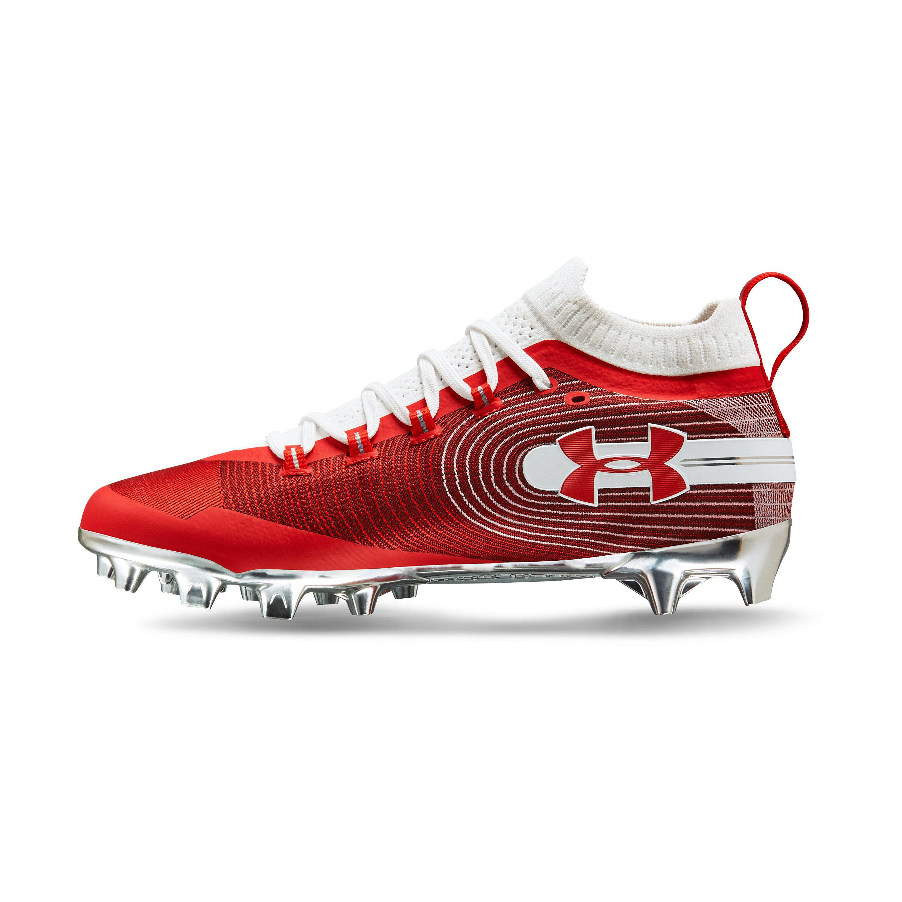 5762c0914 Under Armour Men s Ua Spotlight Mc Football Cleats in Red for Men - Lyst