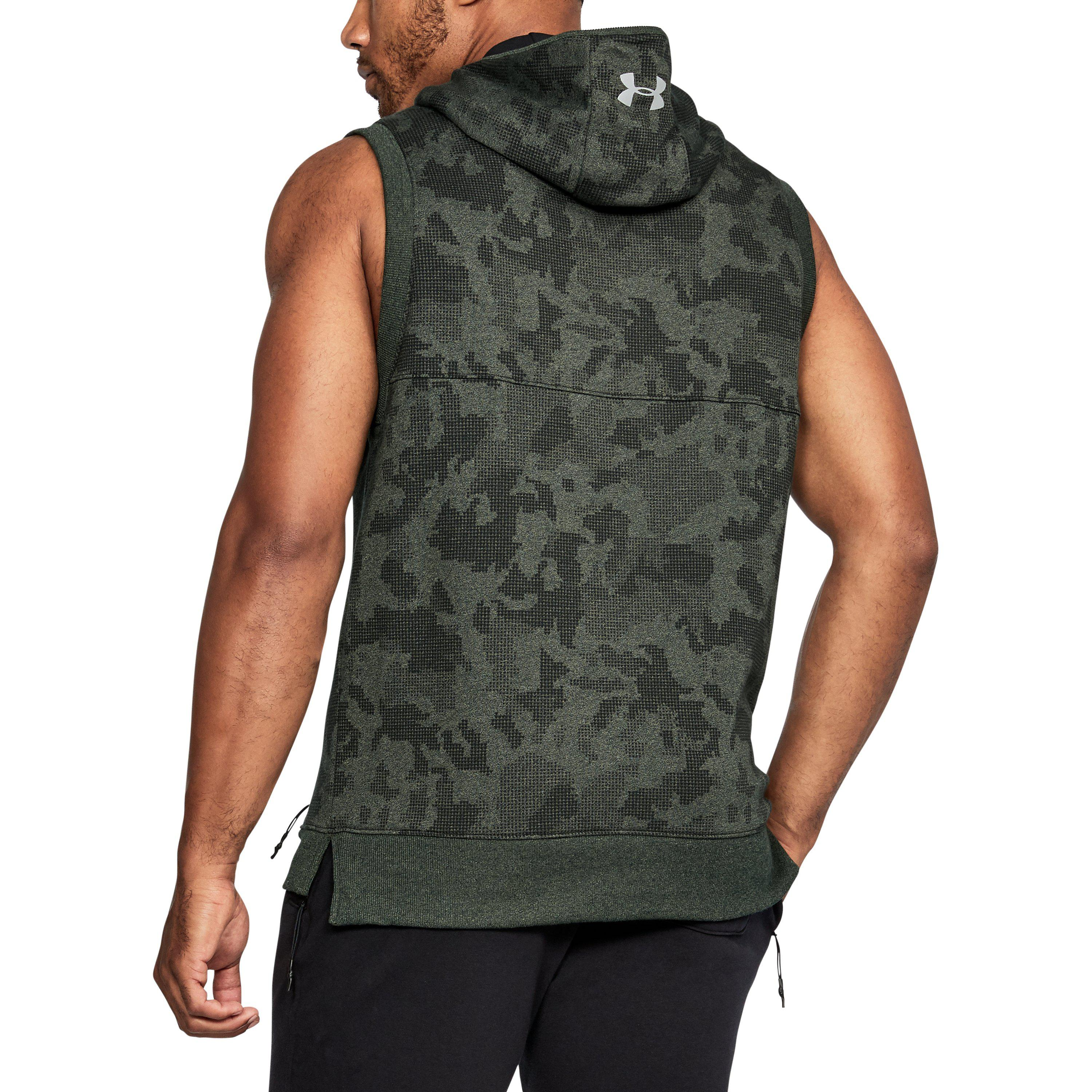 1d52b605bcefa Lyst - Under Armour Project Rock Threadborne Sleeveless Hoodie in ...