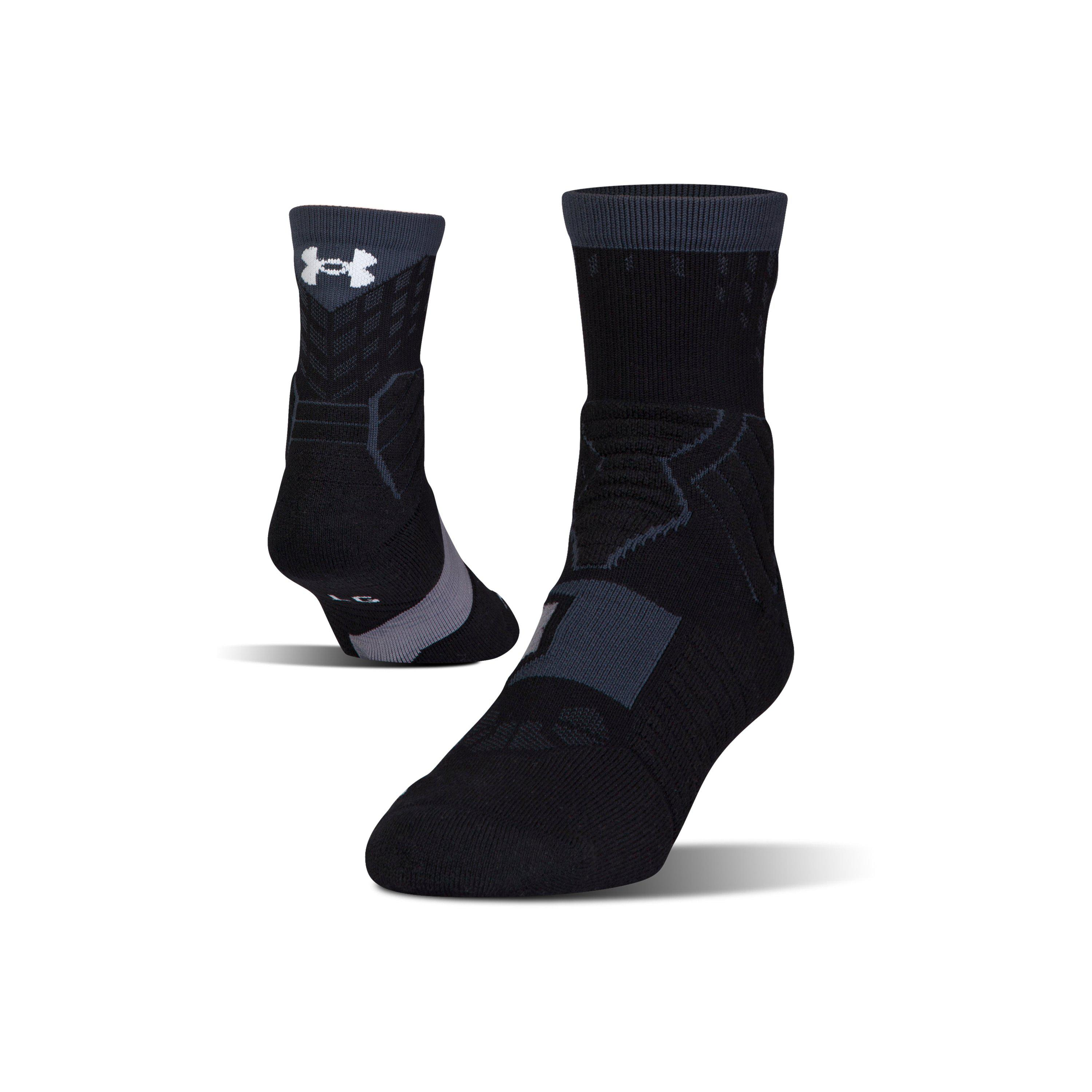 176fcde25ed Lyst Under Armour Men S Ua Basketball Drive Mid Socks In Black For