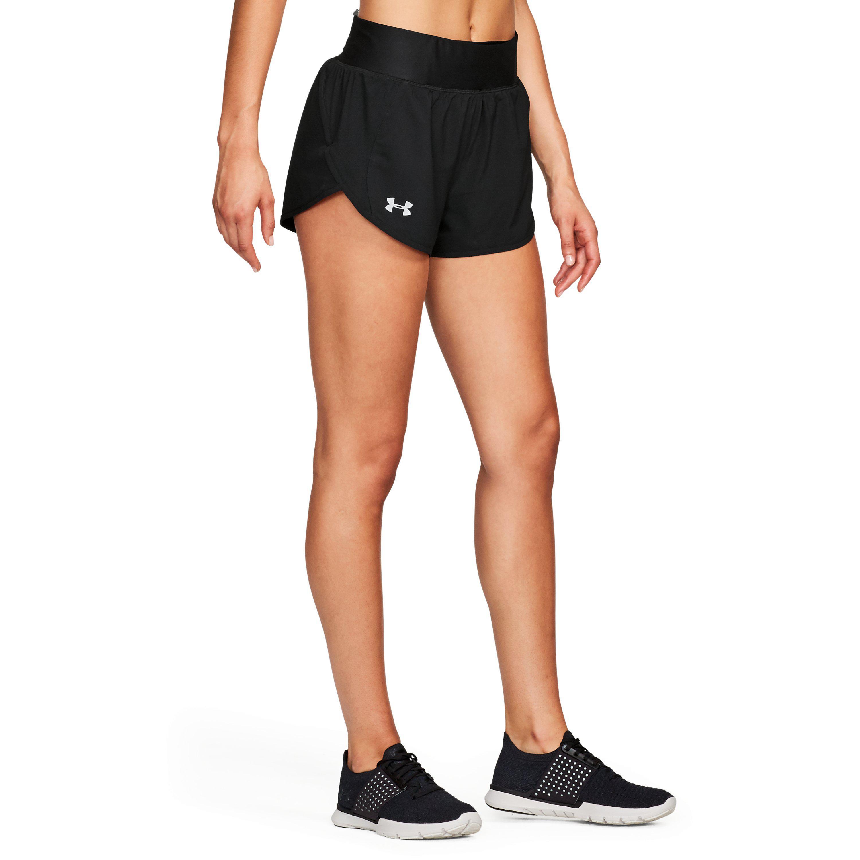532927e1 Under Armour Speedpocket 2 In 1 Womens Running Shorts Black Fitness ...