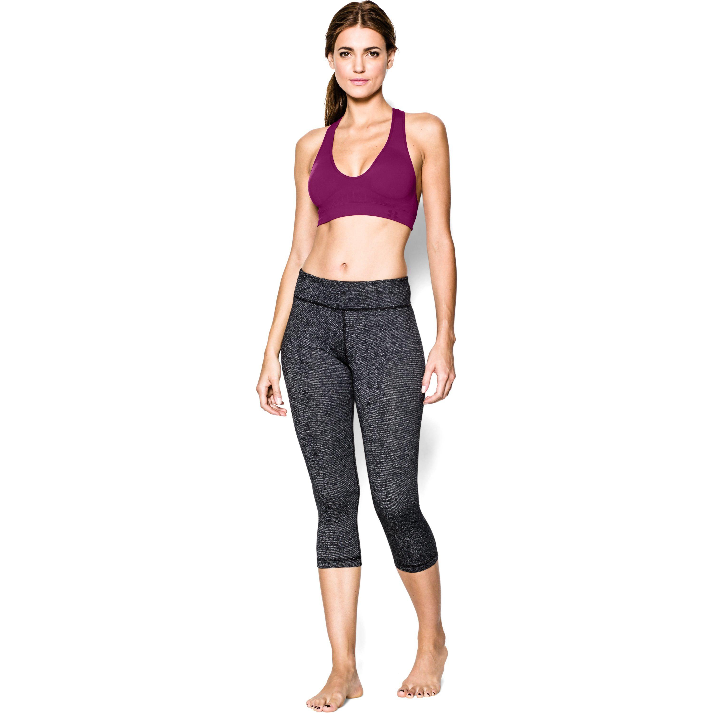 077cfff53b Lyst - Under Armour Women s Ua Seamless Plunge Sports Bra in Black