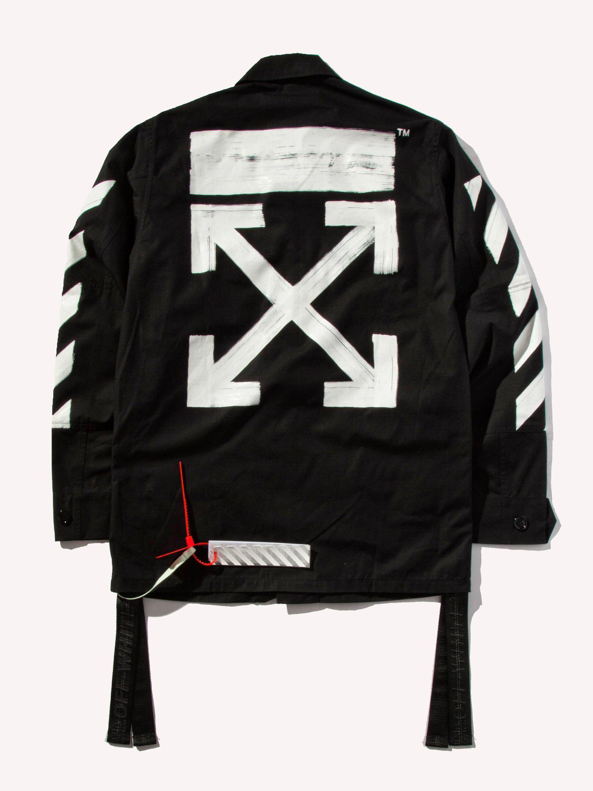 5745f641ca40 Lyst - Off-White c o Virgil Abloh Diag Brushed Field Jacket in Black ...