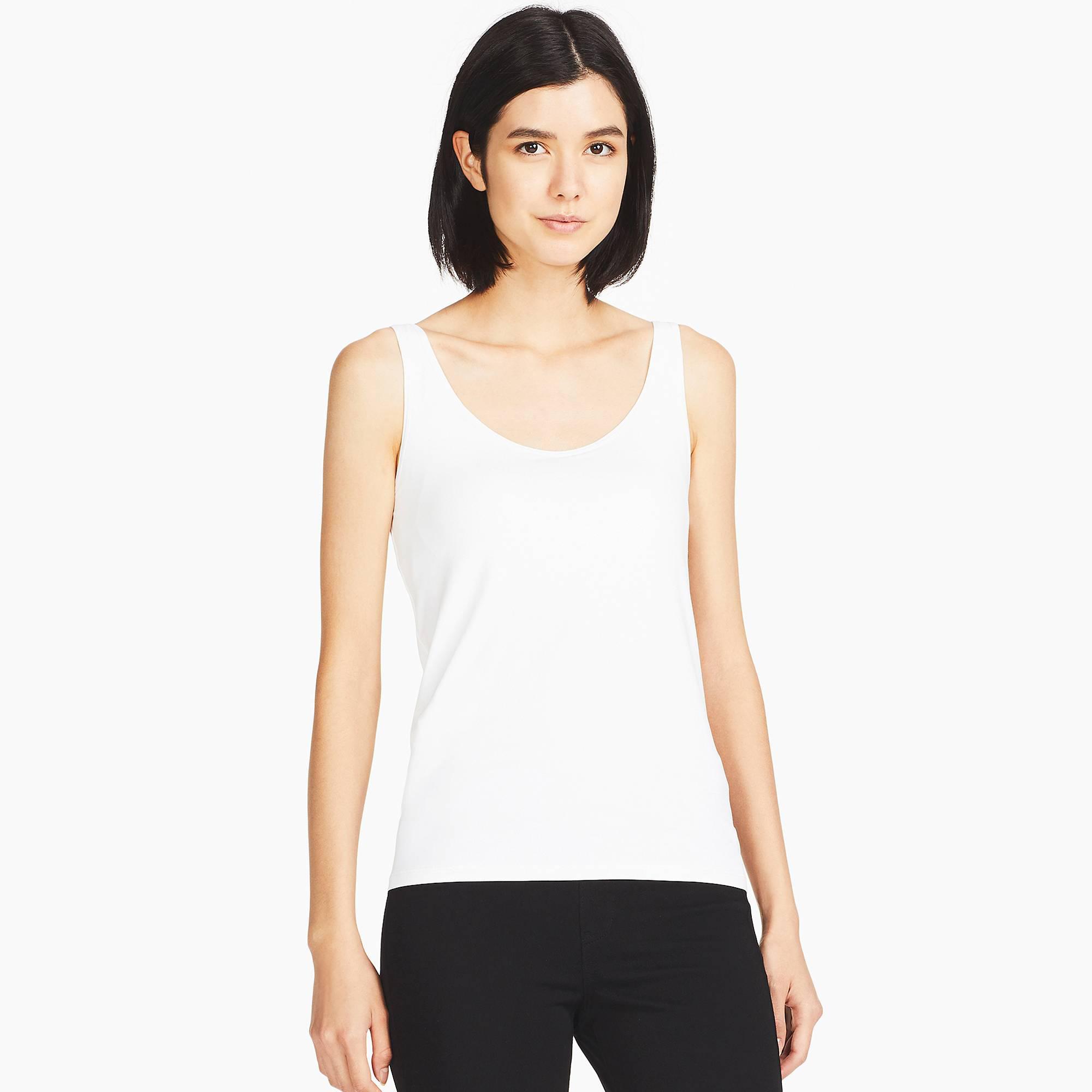 b14818618a401 Lyst - Uniqlo Women Airism Bra Sleeveless Top in White