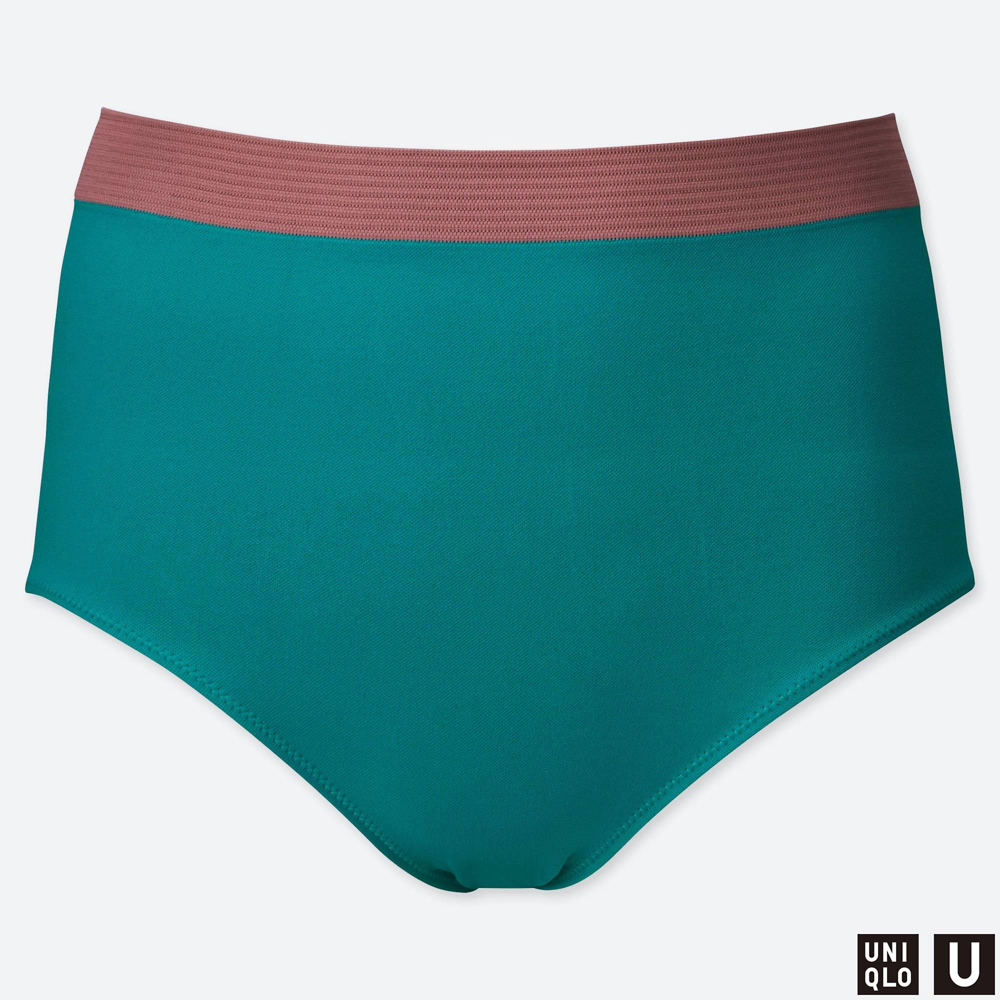 b0b81d6fa7 Lyst - Uniqlo Women U Seamless High-rise Bikini Swim Shorts in Green