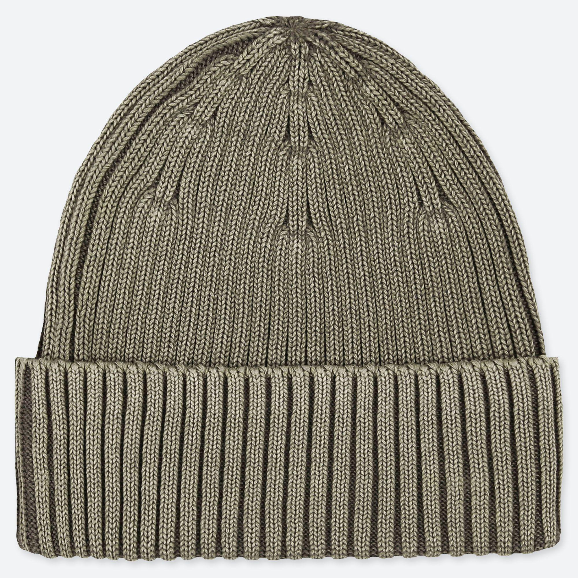 41fedd5e28 Uniqlo Rib Beanie Hat in Green for Men - Lyst