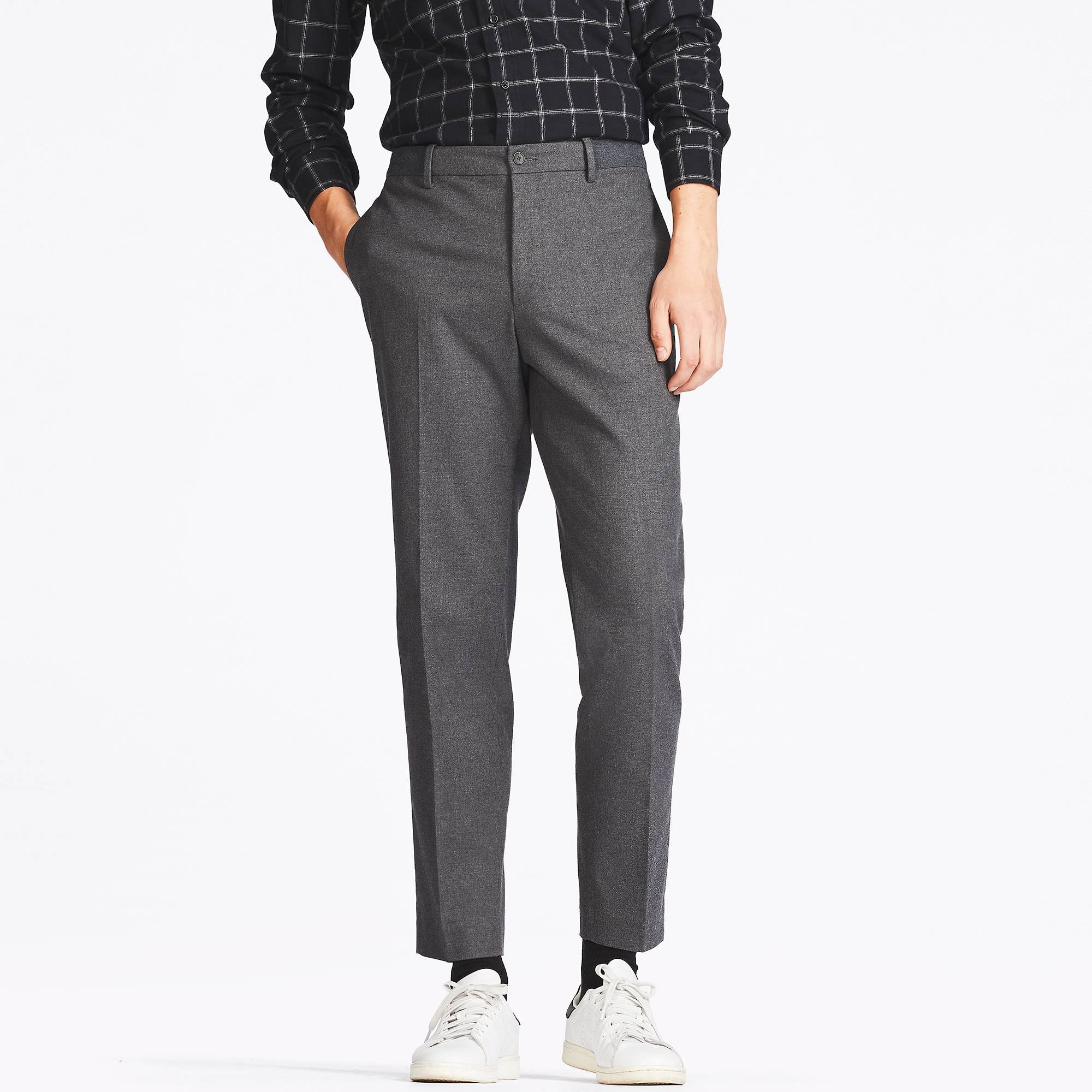 Uniqlo Men Relaxed Ankle-length Pants in Gray for Men | Lyst