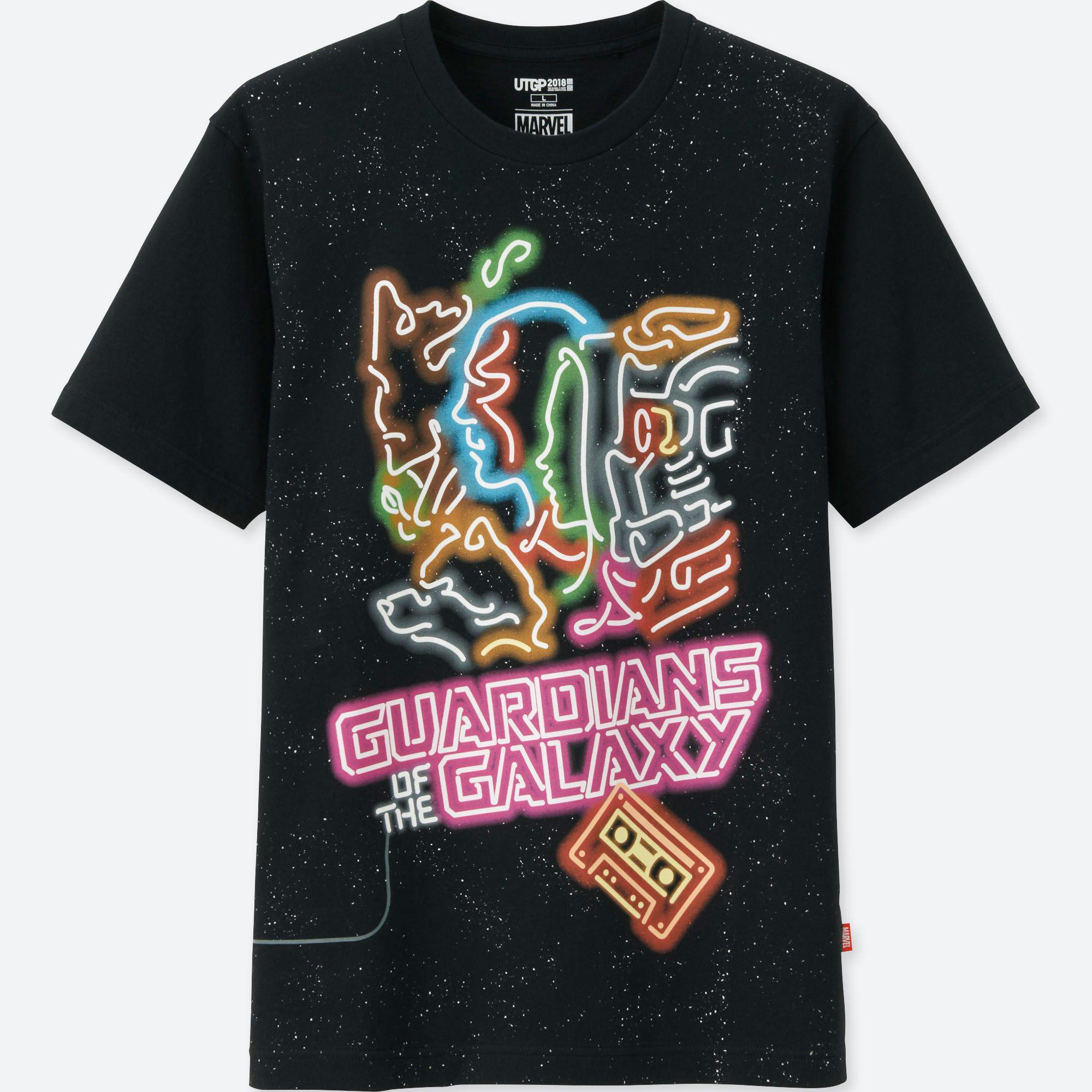 48040027 Uniqlo. Men's Black Ut Grand Prix Marvel Short Sleeve Graphic T-shirt