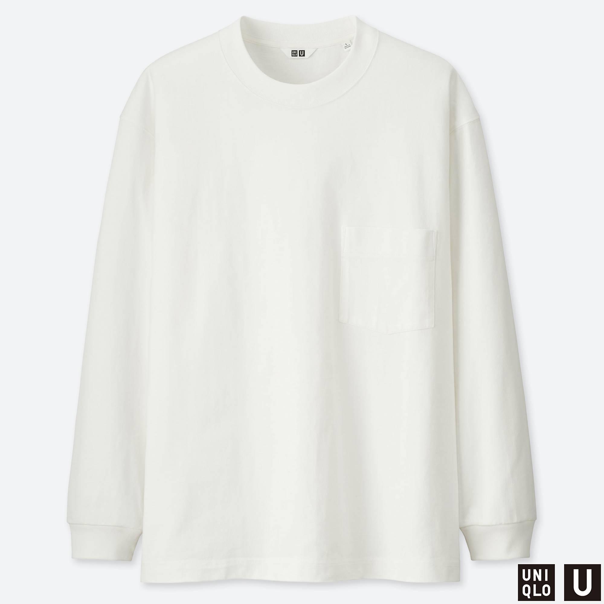 7e77e6e303b9 Lyst - Uniqlo Men U Crew Neck Long-sleeve T-shirt in White for Men