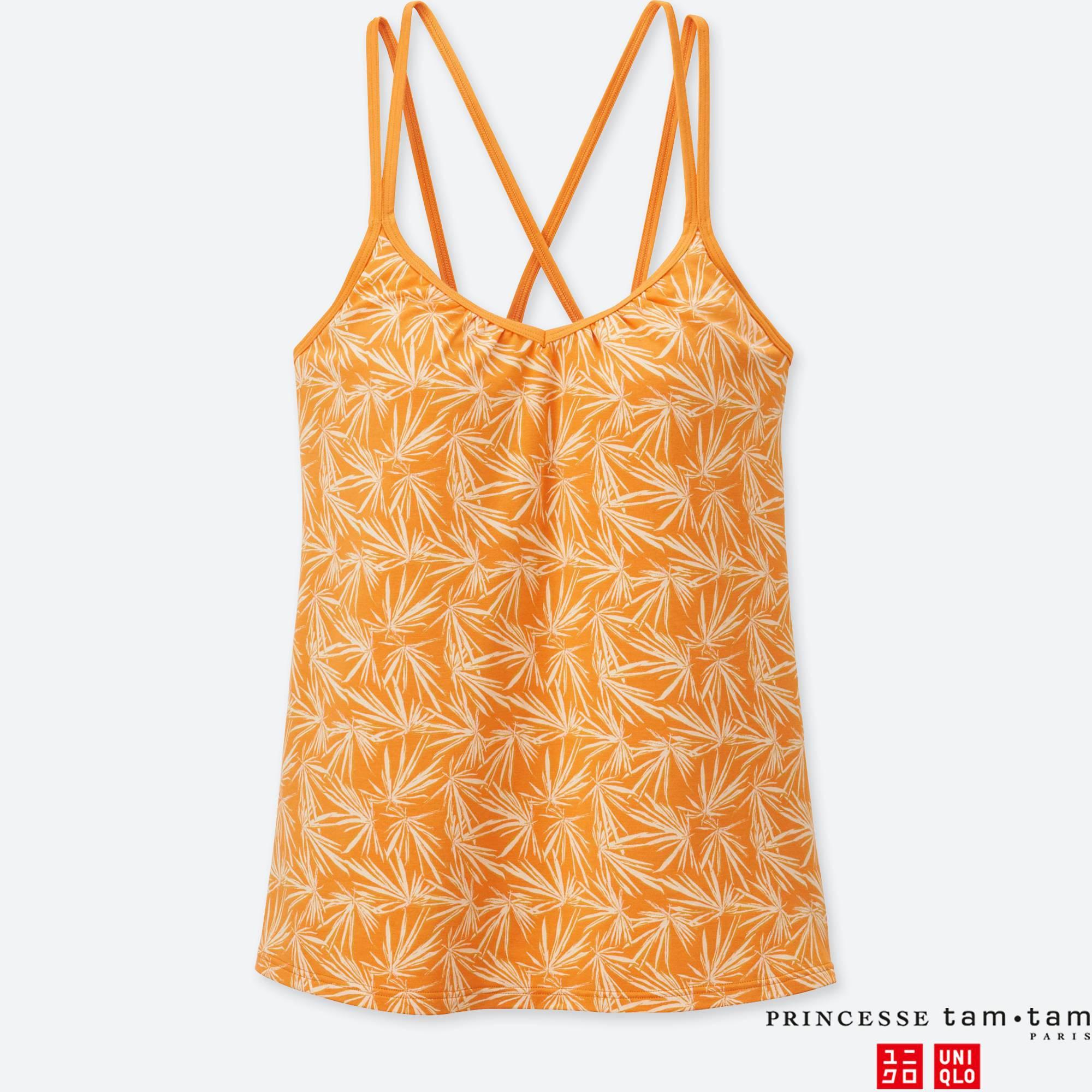 e9a1fa90f7 Lyst - Uniqlo Women Princesse Tam.tam Print Flare Bra Camisole in Orange