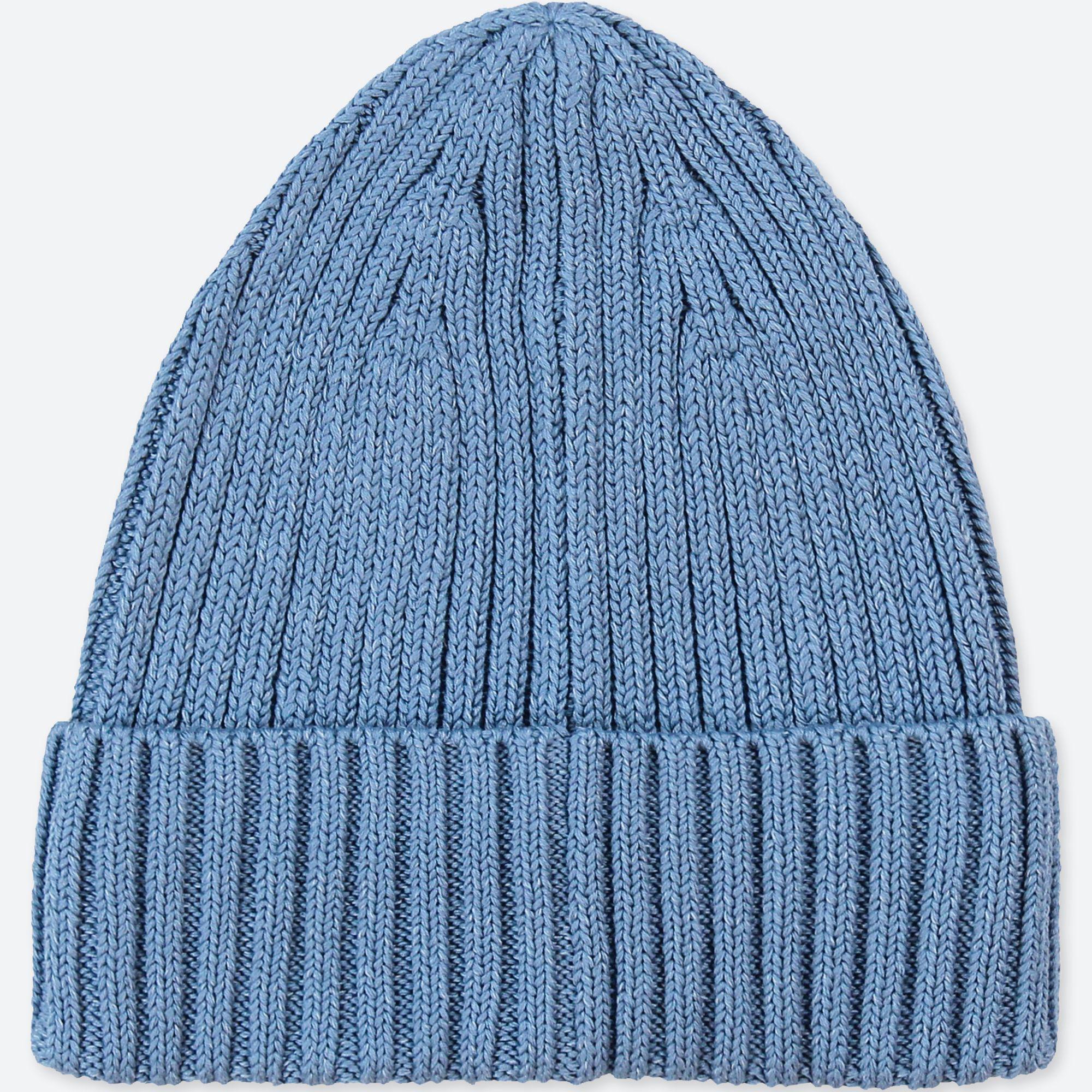 Uniqlo Rib Beanie in Blue for Men - Lyst b5f08ce8aea6